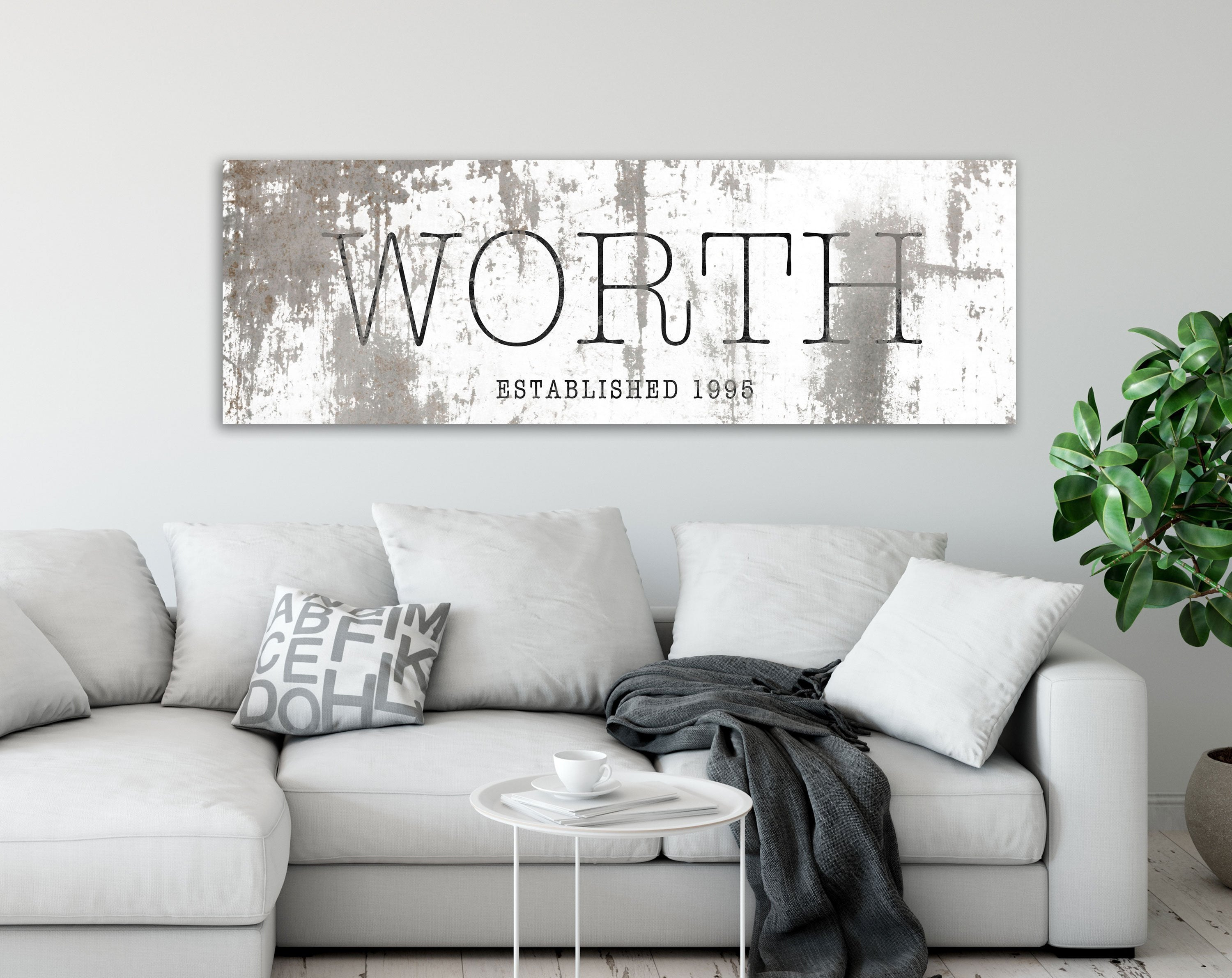 Farmhouse Family Wall Art, Industrial Modern Decor, Large Established Last  Name Sign, Rustic Home Decor Print Regarding Large Modern Industrial Wall Decor (Photo 11 of 30)