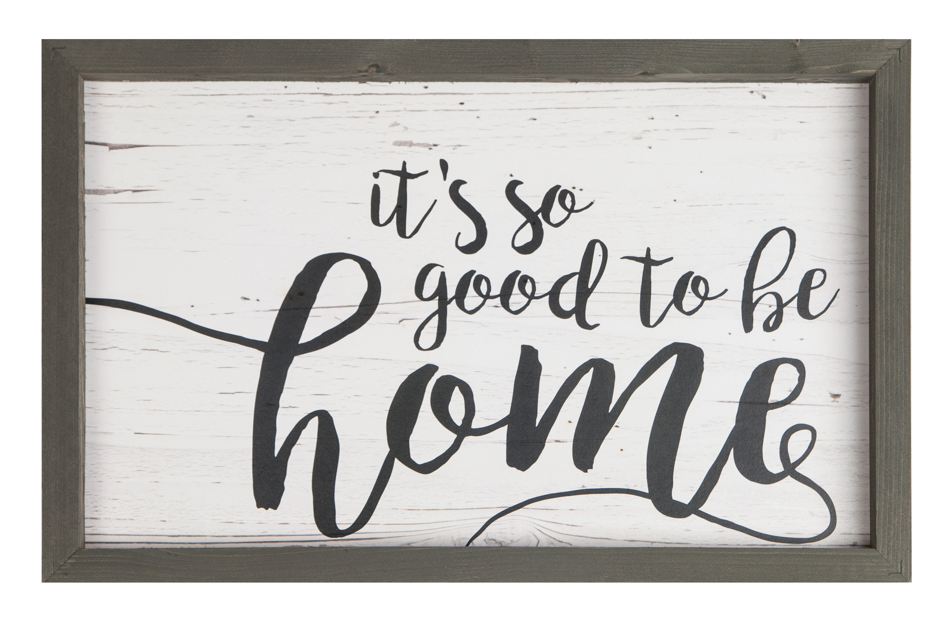 Farmhouse Frame 'it's So Good To Be Home' Framed Textual Art Print On Wood With Fawcett Thankful Heart Wall Decor (View 21 of 30)