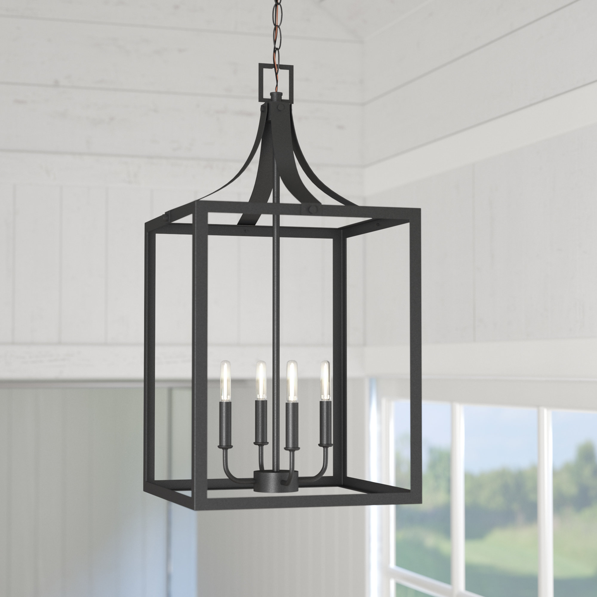 Farmhouse Lighting Chandelier | Wayfair Within William 4 Light Lantern Square / Rectangle Pendants (View 19 of 30)