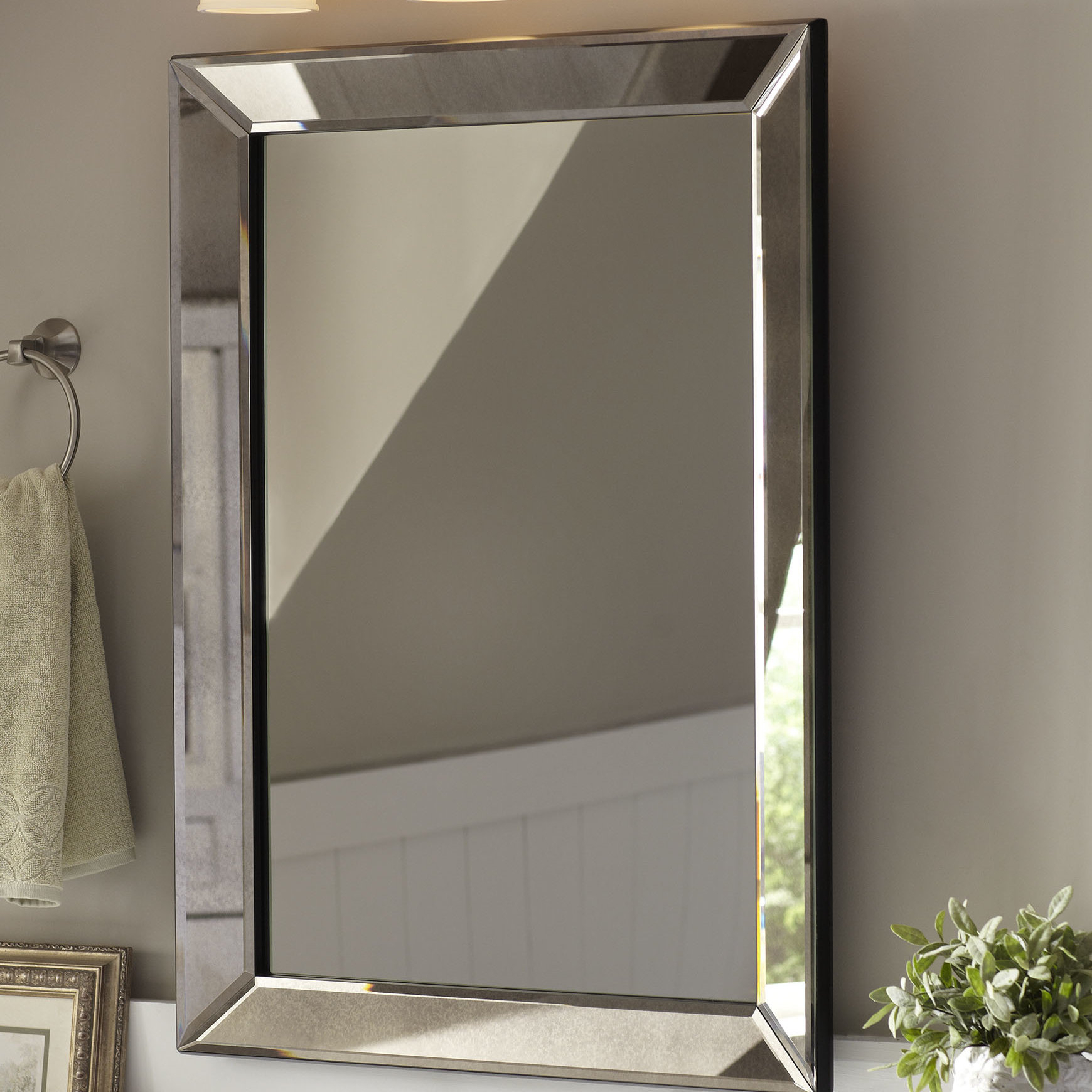 Farmhouse Mirrors | Birch Lane Intended For Landover Rustic Distressed Bathroom/vanity Mirrors (View 11 of 30)