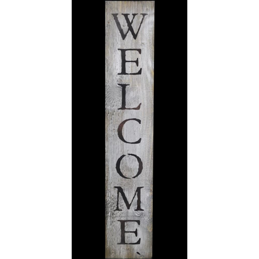 """Farmhouse Outdoor Wall Decor - Mocome throughout In-a-Word """"welcome"""" Wall Decor (Image 7 of 30)"""