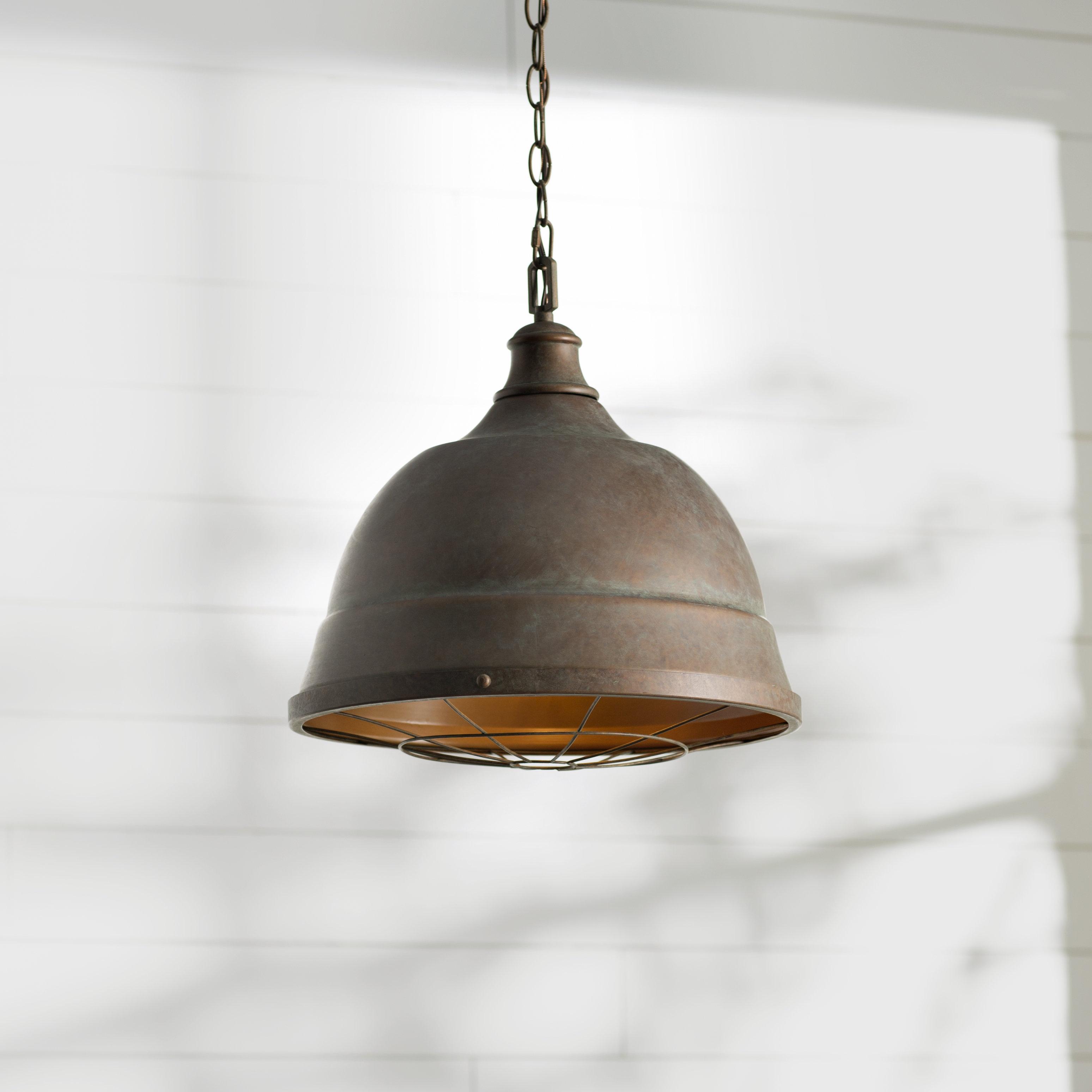 Farmhouse & Rustic 2 Light Pendants | Birch Lane in Amara 2-Light Dome Pendants (Image 15 of 30)