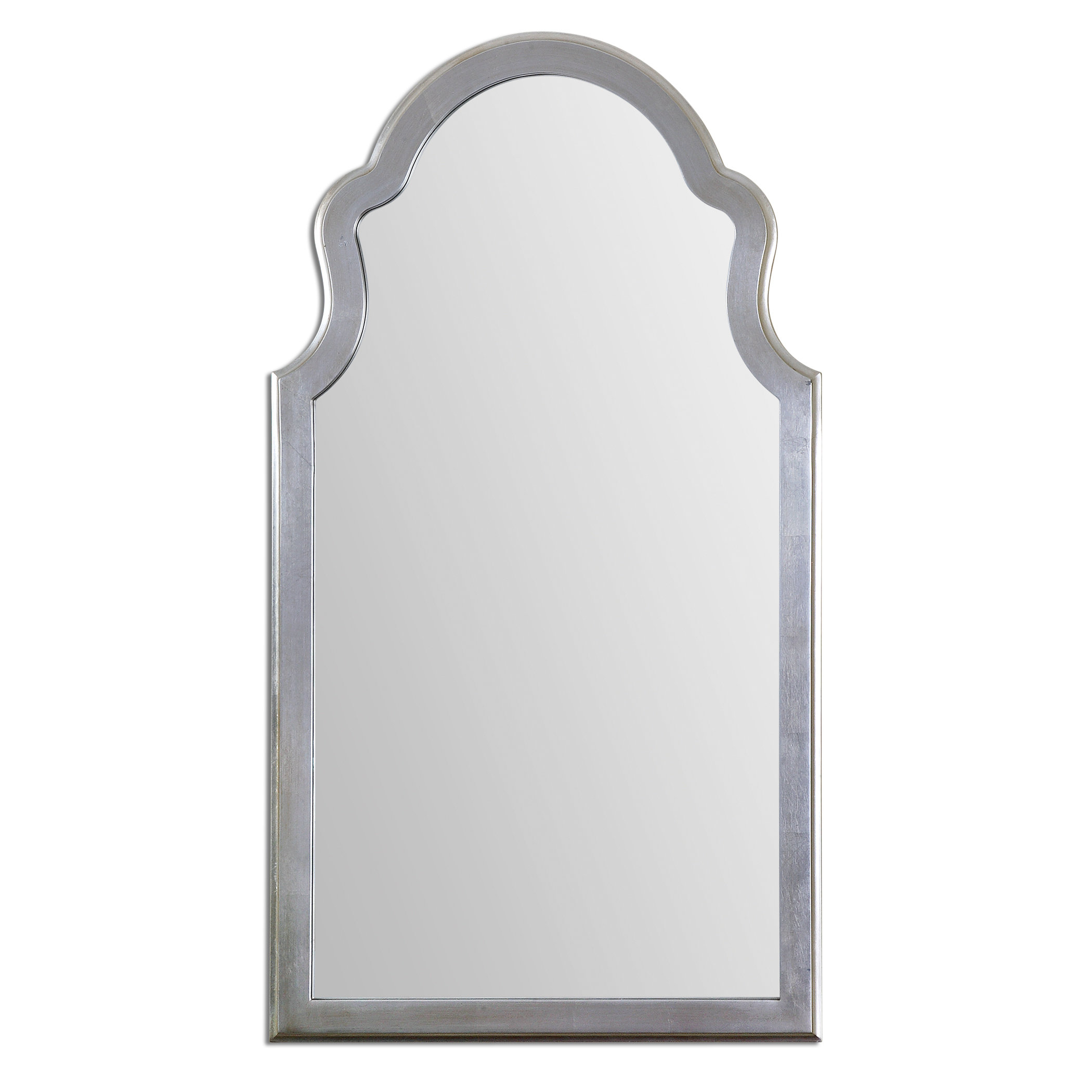 Farmhouse & Rustic Arch / Crowned Top Wall & Accent Mirrors regarding Dariel Tall Arched Scalloped Wall Mirrors (Image 11 of 30)
