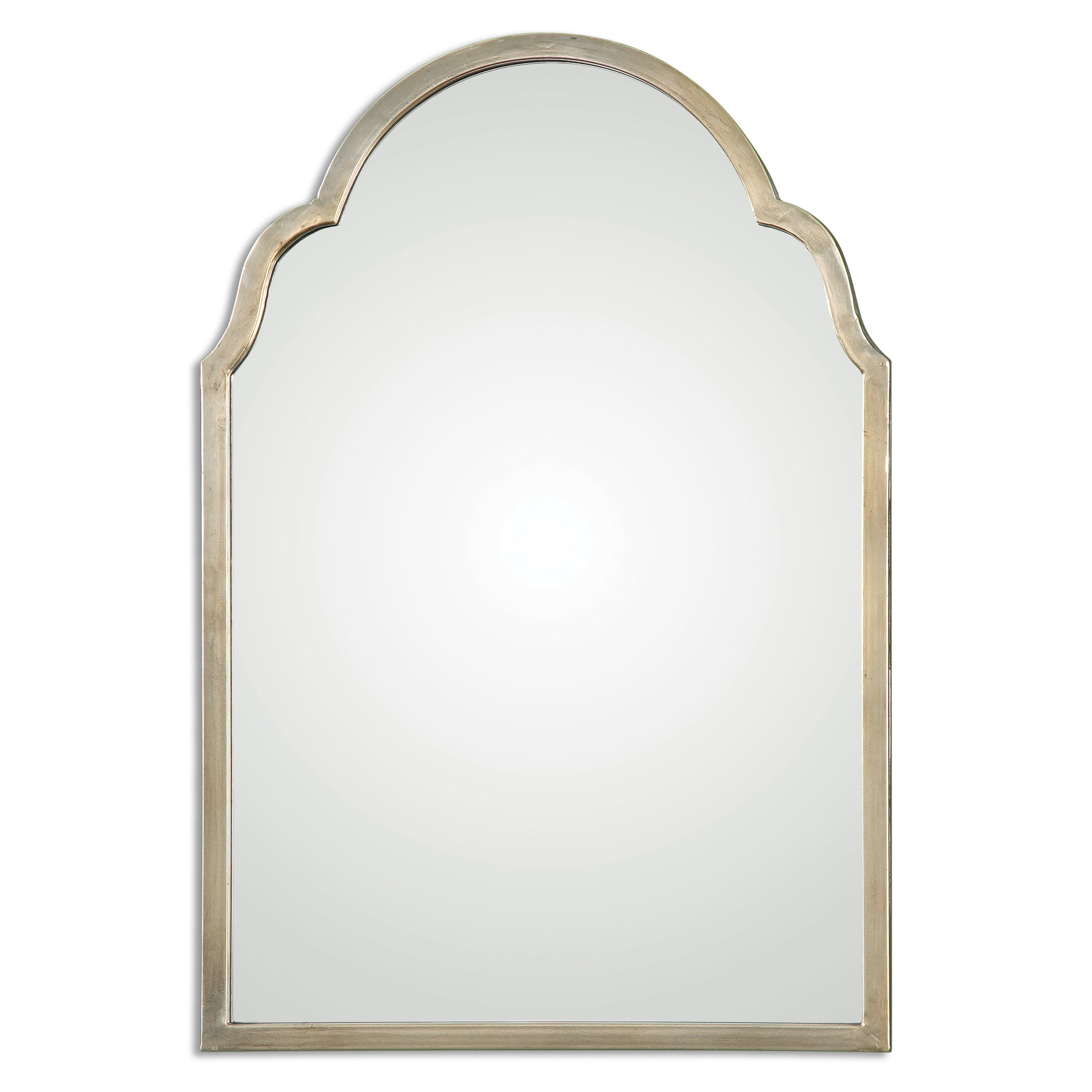 Farmhouse & Rustic Arch / Crowned Top Wall & Accent Mirrors Regarding Ekaterina Arch/crowned Top Wall Mirrors (View 13 of 30)