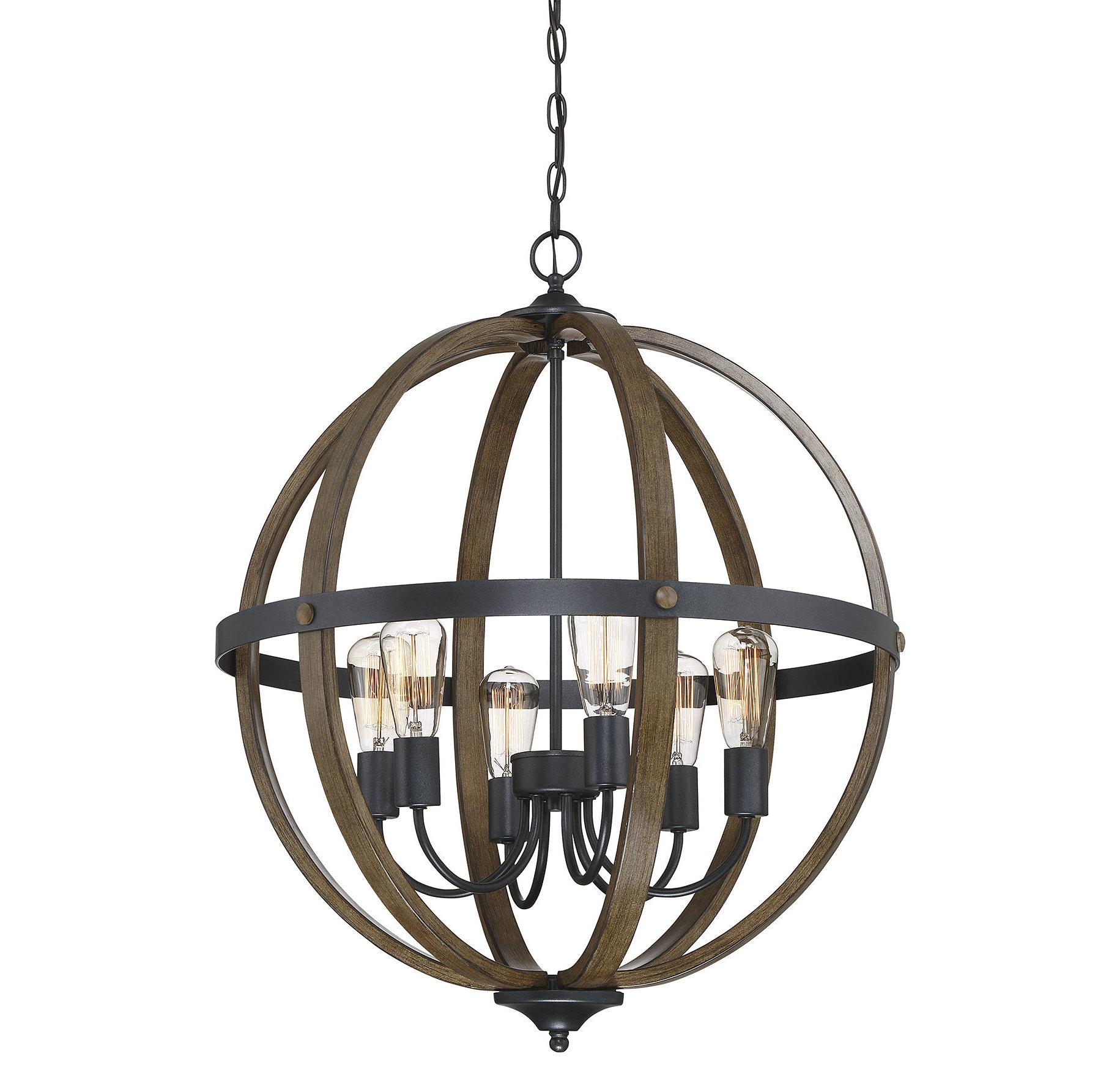Farmhouse & Rustic Globe Chandeliers | Birch Lane For Hendry 4 Light Globe Chandeliers (View 24 of 30)