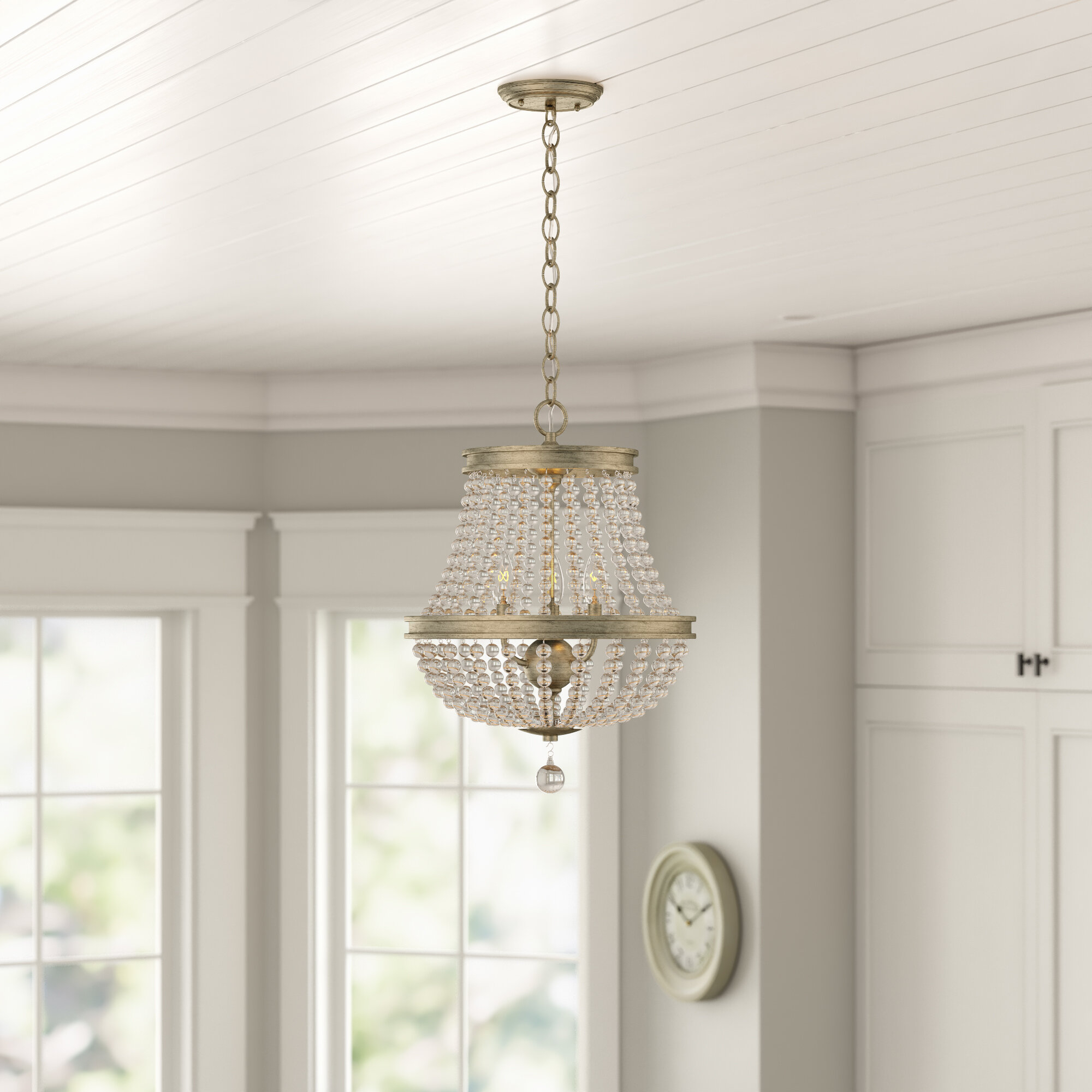 Farmhouse & Rustic Kids Chandeliers | Birch Lane With Bouchette Traditional 6 Light Candle Style Chandeliers (View 20 of 30)