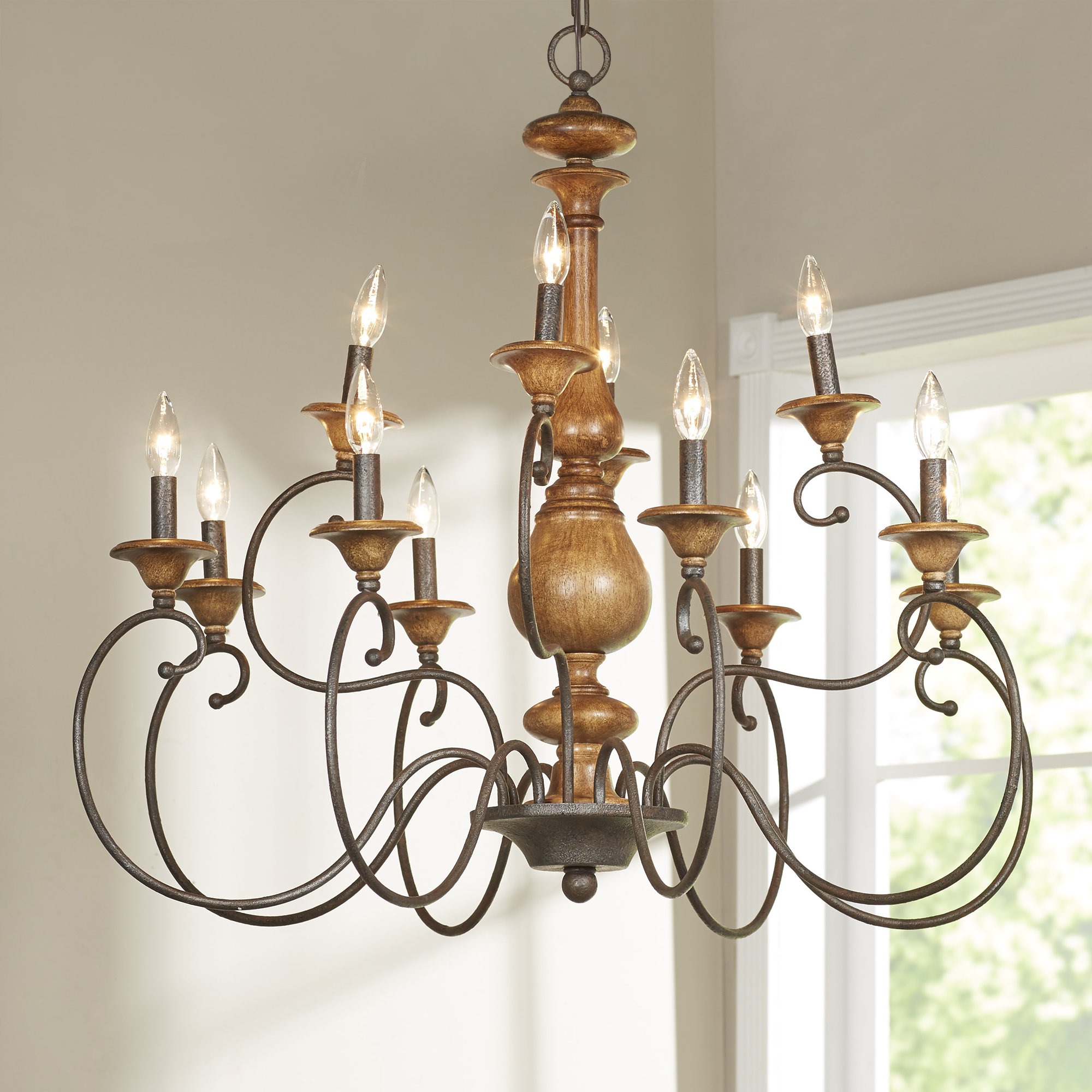 Farmhouse & Rustic Lark Manor Chandeliers | Birch Lane for Corneau 5-Light Chandeliers (Image 16 of 30)
