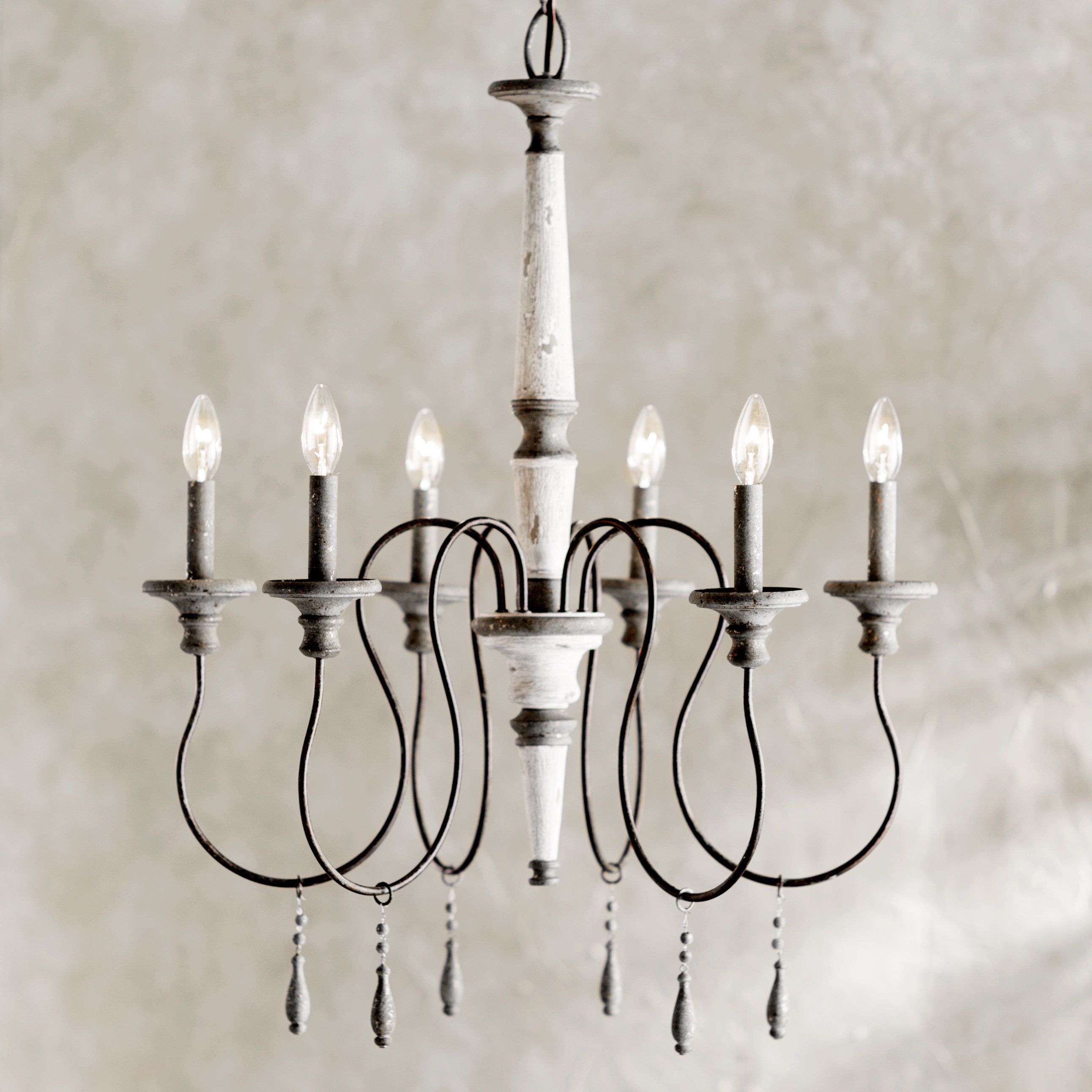 Farmhouse & Rustic Lark Manor Chandeliers | Birch Lane with regard to Corneau 5-Light Chandeliers (Image 17 of 30)
