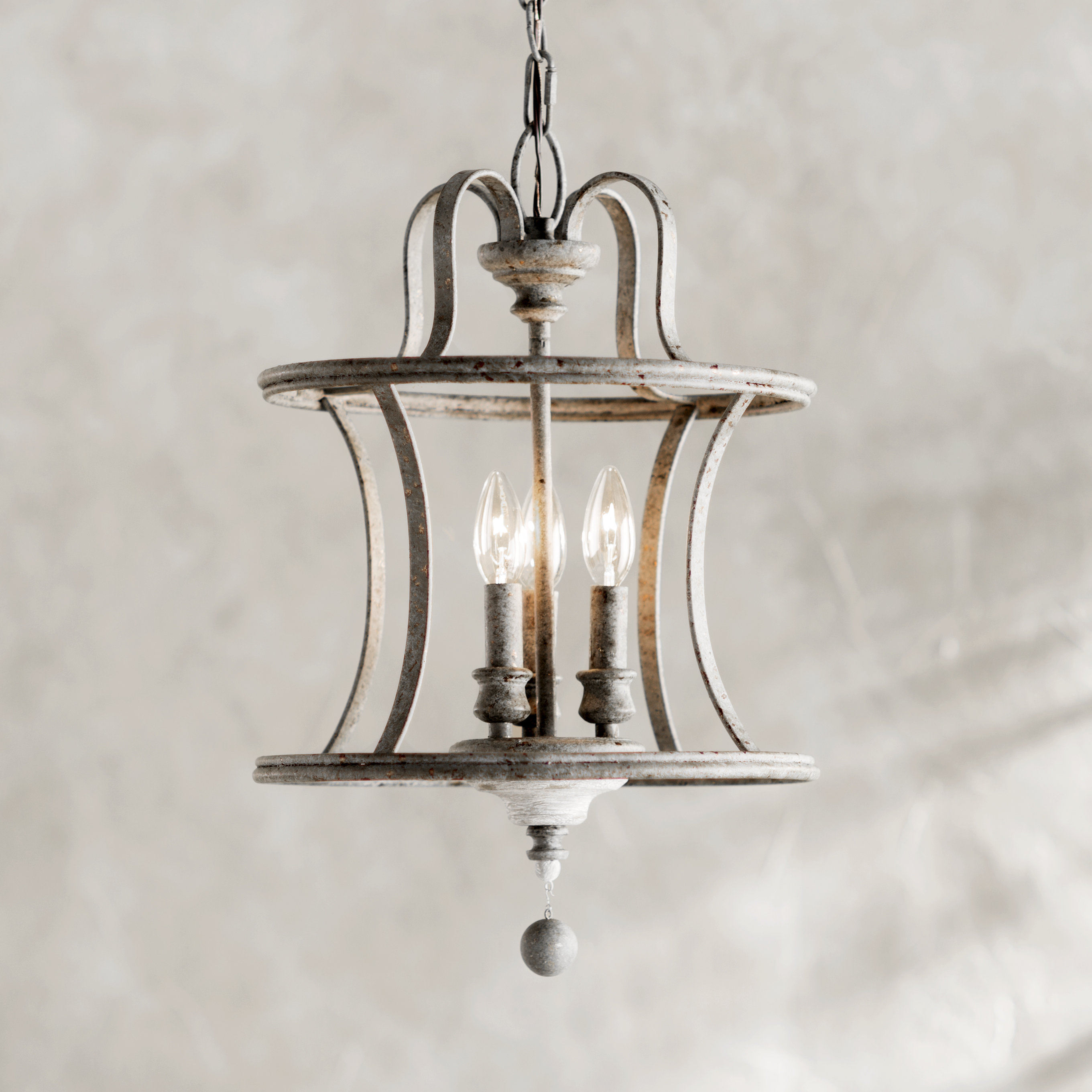 Farmhouse & Rustic Lark Manor Pendants | Birch Lane regarding Armande 3-Light Lantern Geometric Pendants (Image 18 of 30)