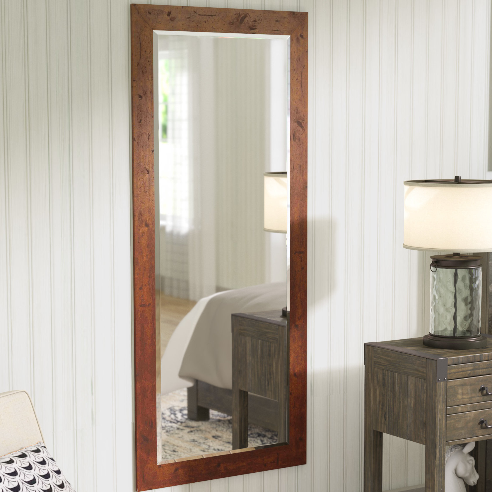 Farmhouse & Rustic Laurel Foundry Modern Farmhouse Wall Pertaining To Peetz Modern Rustic Accent Mirrors (Image 10 of 30)