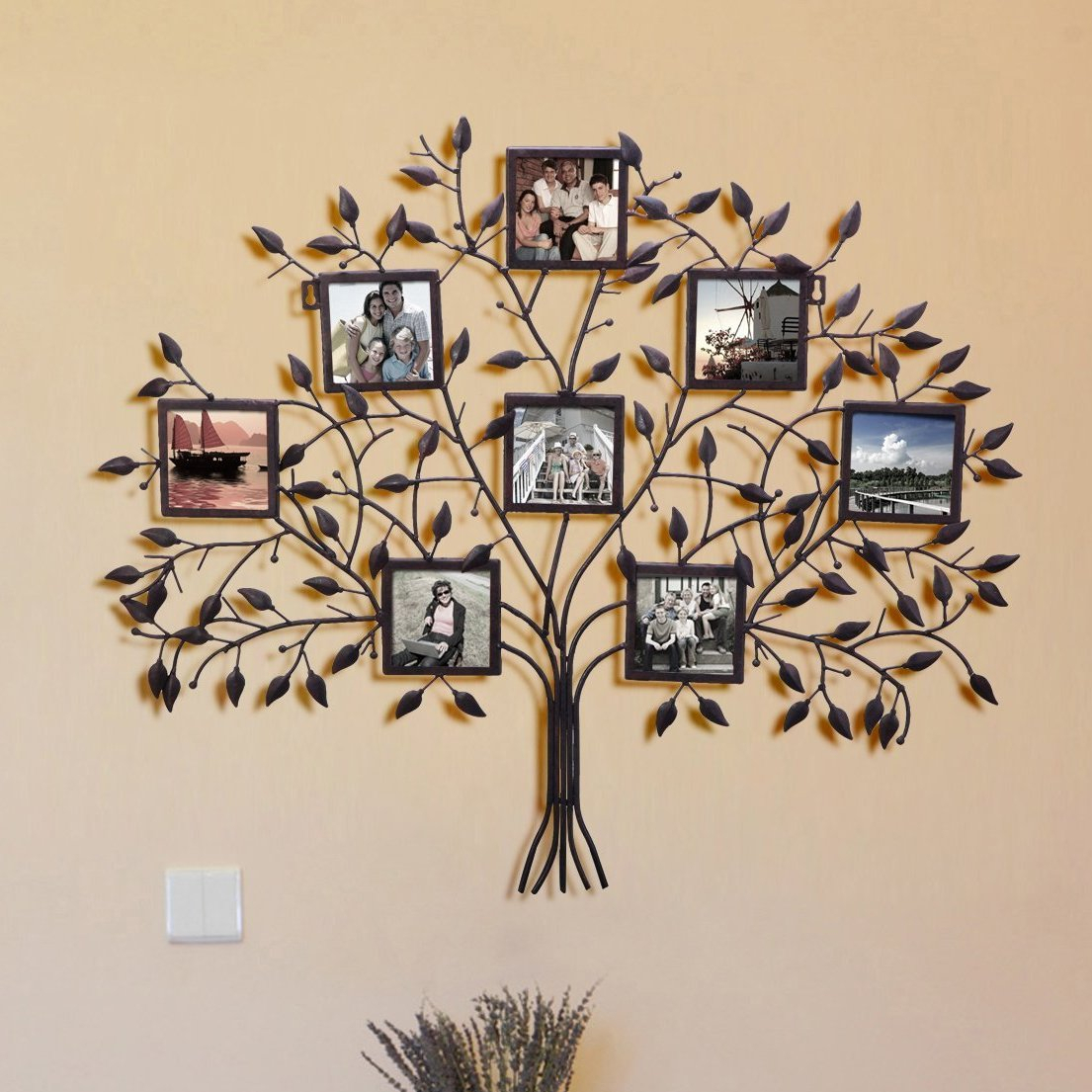 Farmhouse & Rustic Metal Picture Frames | Birch Lane With Millanocket Metal Wheel Photo Holder Wall Decor (View 11 of 30)