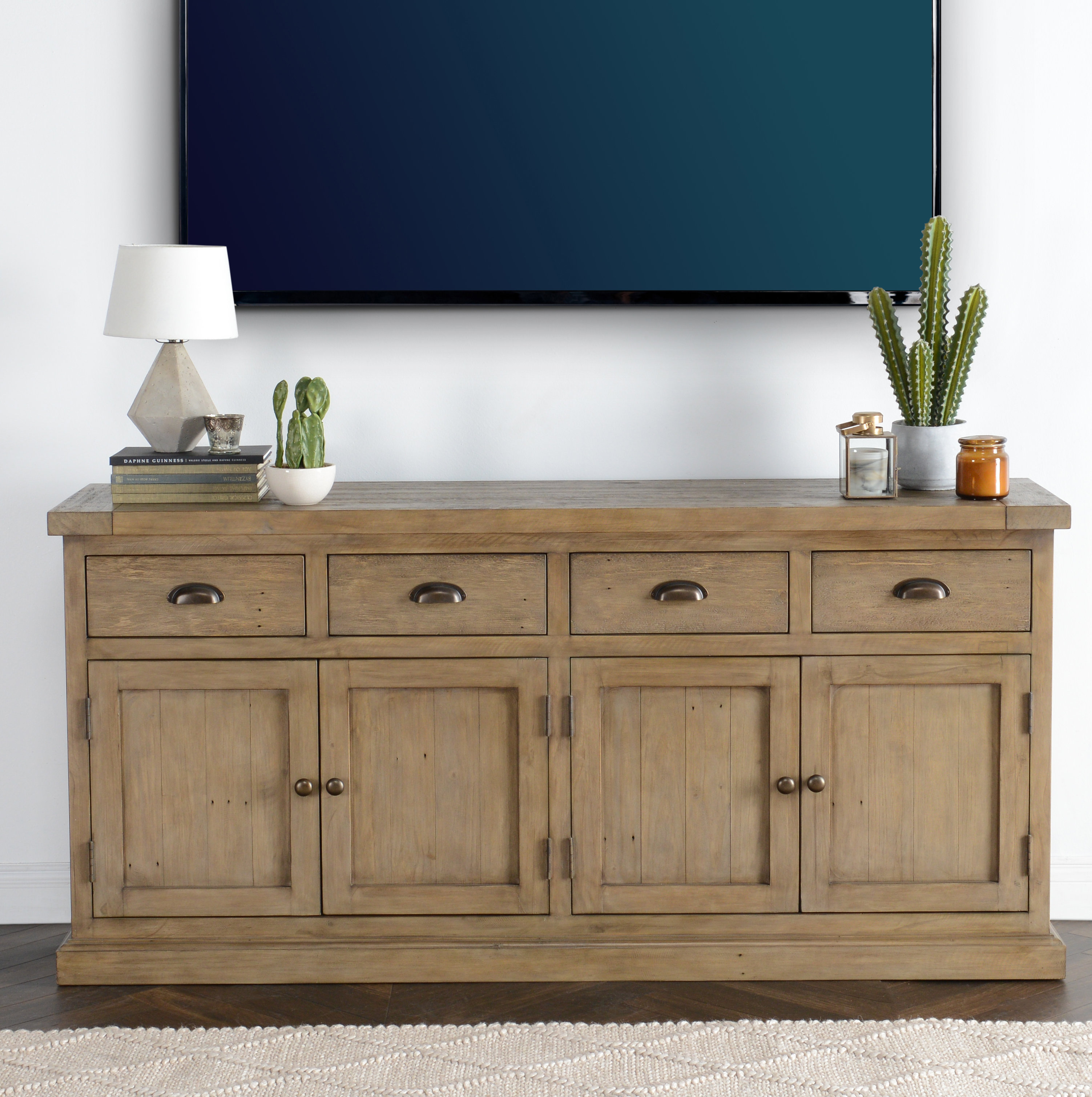 Farmhouse & Rustic Pine Sideboards & Buffets | Birch Lane in Chaffins Sideboards (Image 15 of 30)