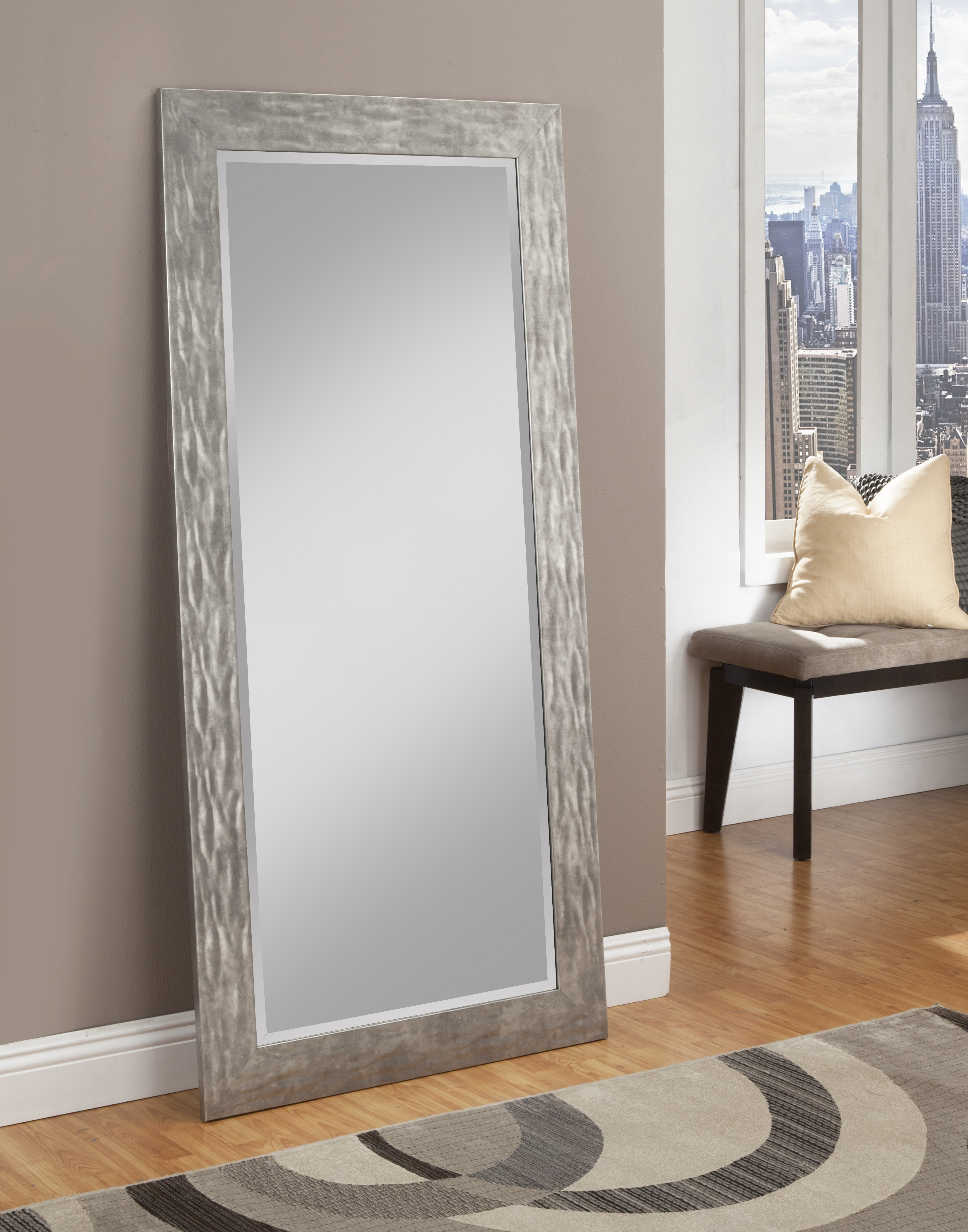 Farmhouse & Rustic Rosecliff Heights Wall & Accent Mirrors Inside Wallingford Large Frameless Wall Mirrors (View 20 of 30)