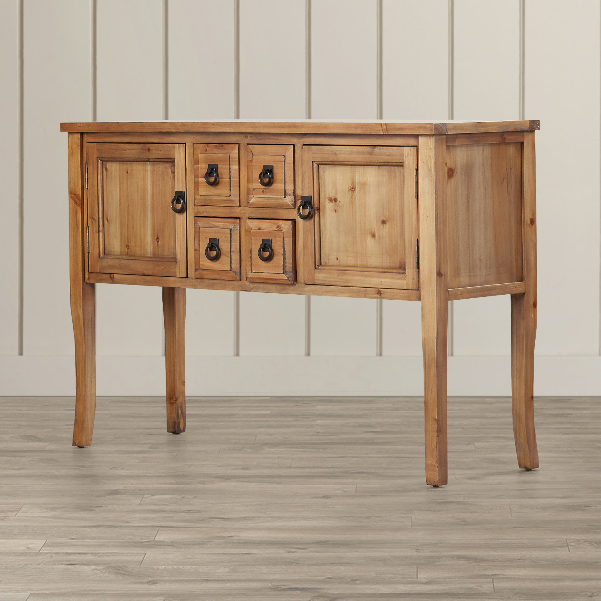 Farmhouse & Rustic Solid Wood Sideboards & Buffets | Birch Lane pertaining to Chaffins Sideboards (Image 18 of 30)