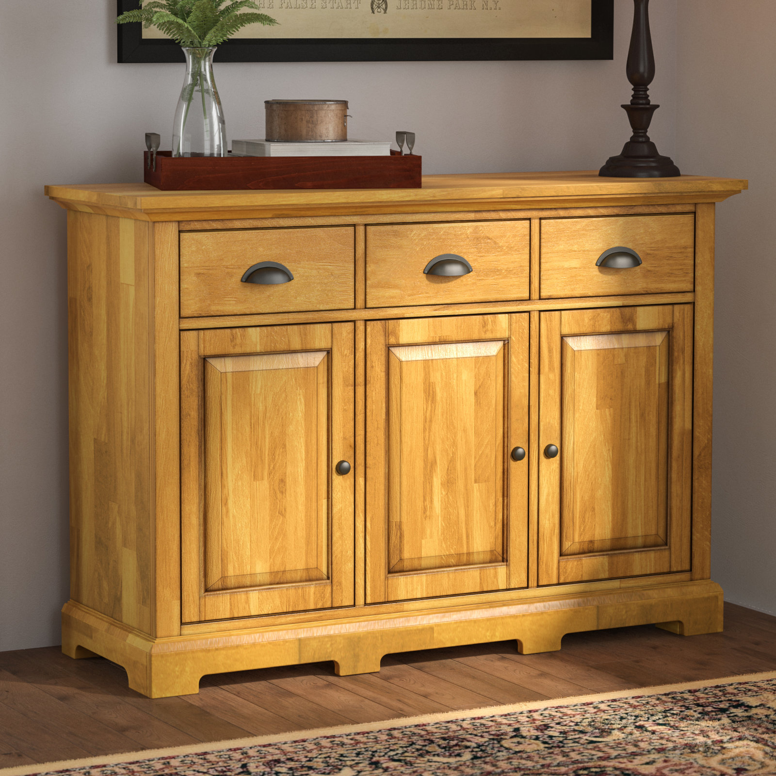 Farmhouse & Rustic Three Posts Sideboards & Buffets | Birch Lane in Stillwater Sideboards (Image 8 of 30)