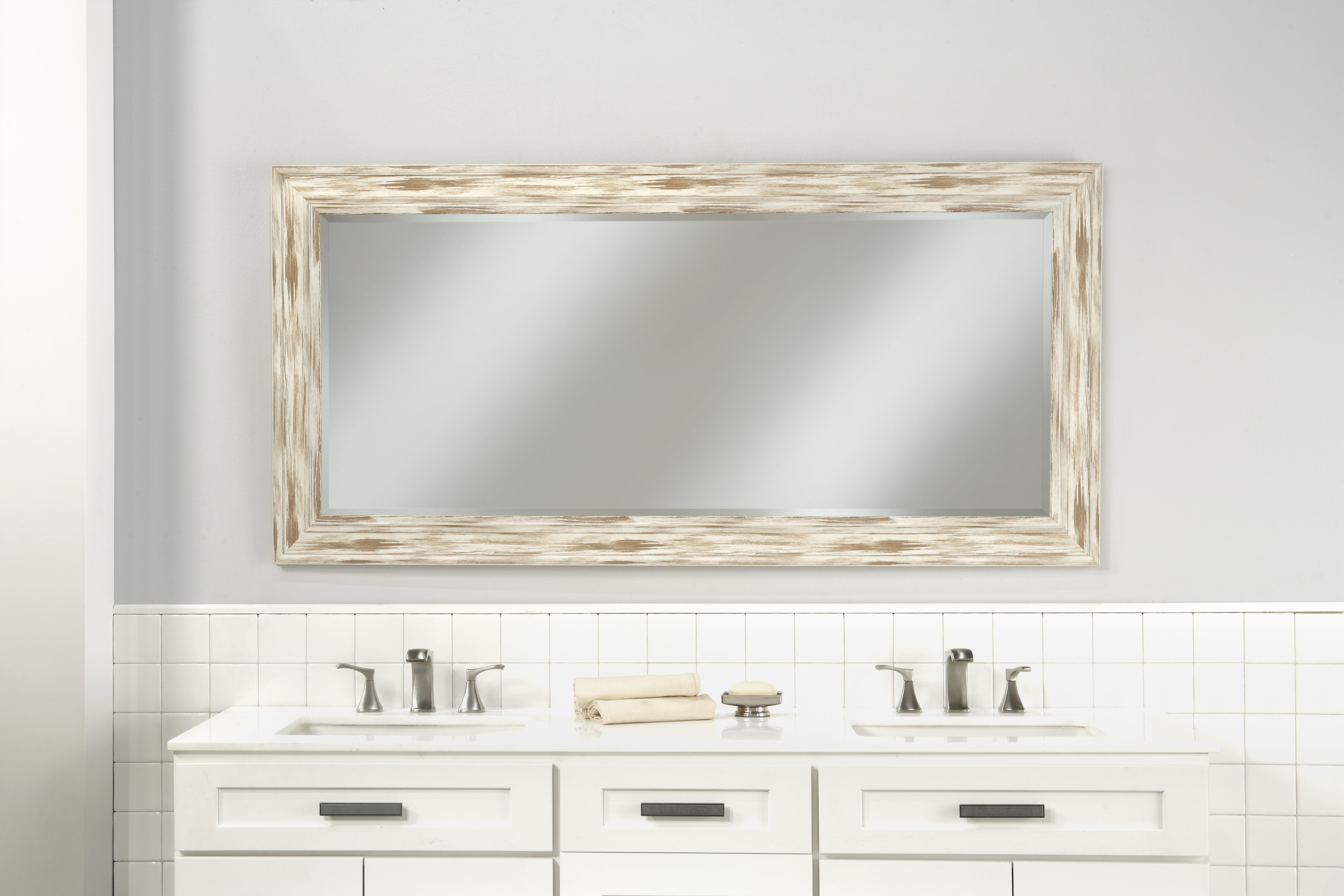 Farmhouse & Rustic Three Posts Wall & Accent Mirrors | Birch for Boyers Wall Mirrors (Image 17 of 30)
