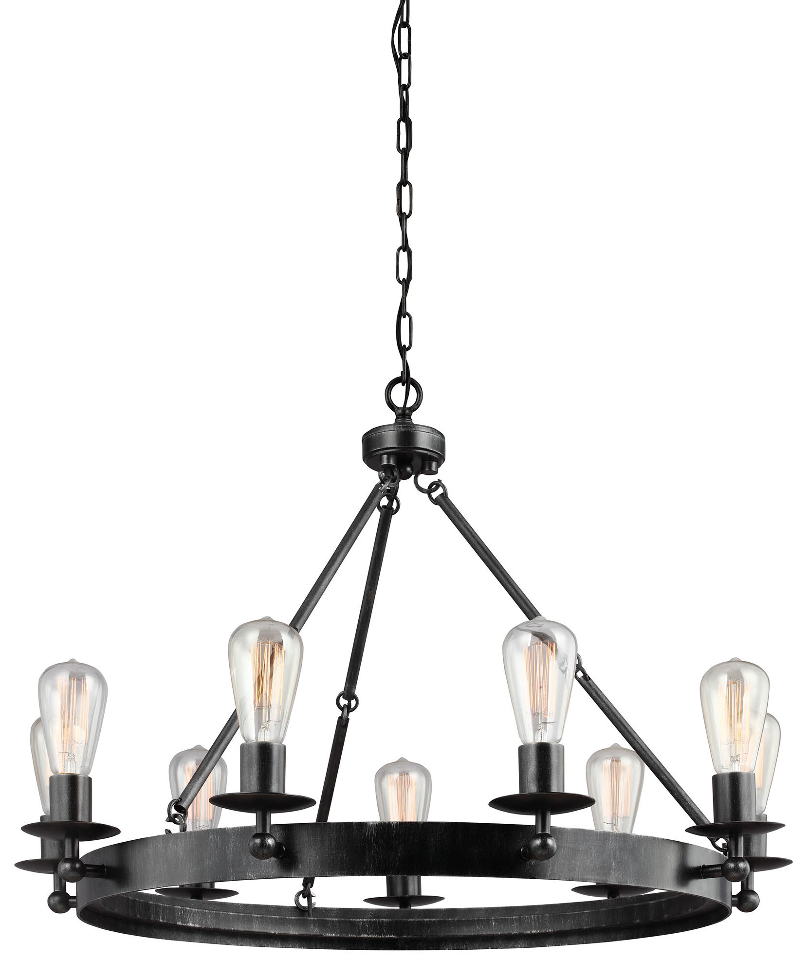 Farmhouse & Rustic Trent Austin Design Chandeliers | Birch Lane In Alayna 4 Light Shaded Chandeliers (Image 15 of 30)