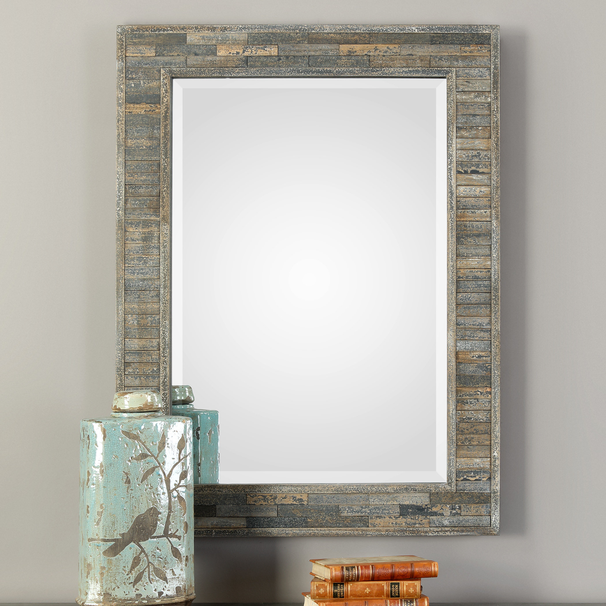 Farmhouse & Rustic Union Rustic Wall & Accent Mirrors inside Longwood Rustic Beveled Accent Mirrors (Image 7 of 30)