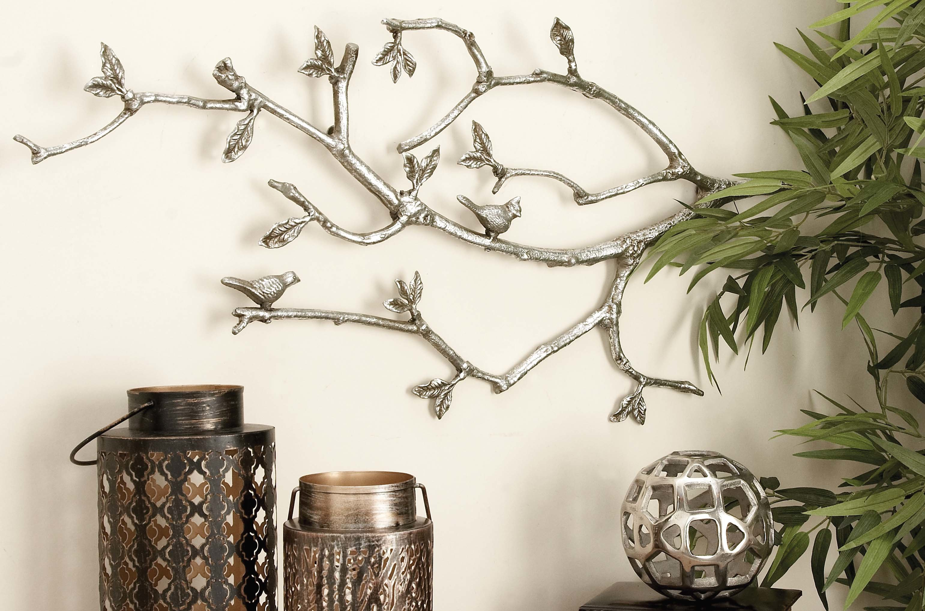 Farmhouse & Rustic Winston Porter Wall Decor | Birch Lane In Leaves Metal Sculpture Wall Decor By Winston Porter (View 17 of 30)