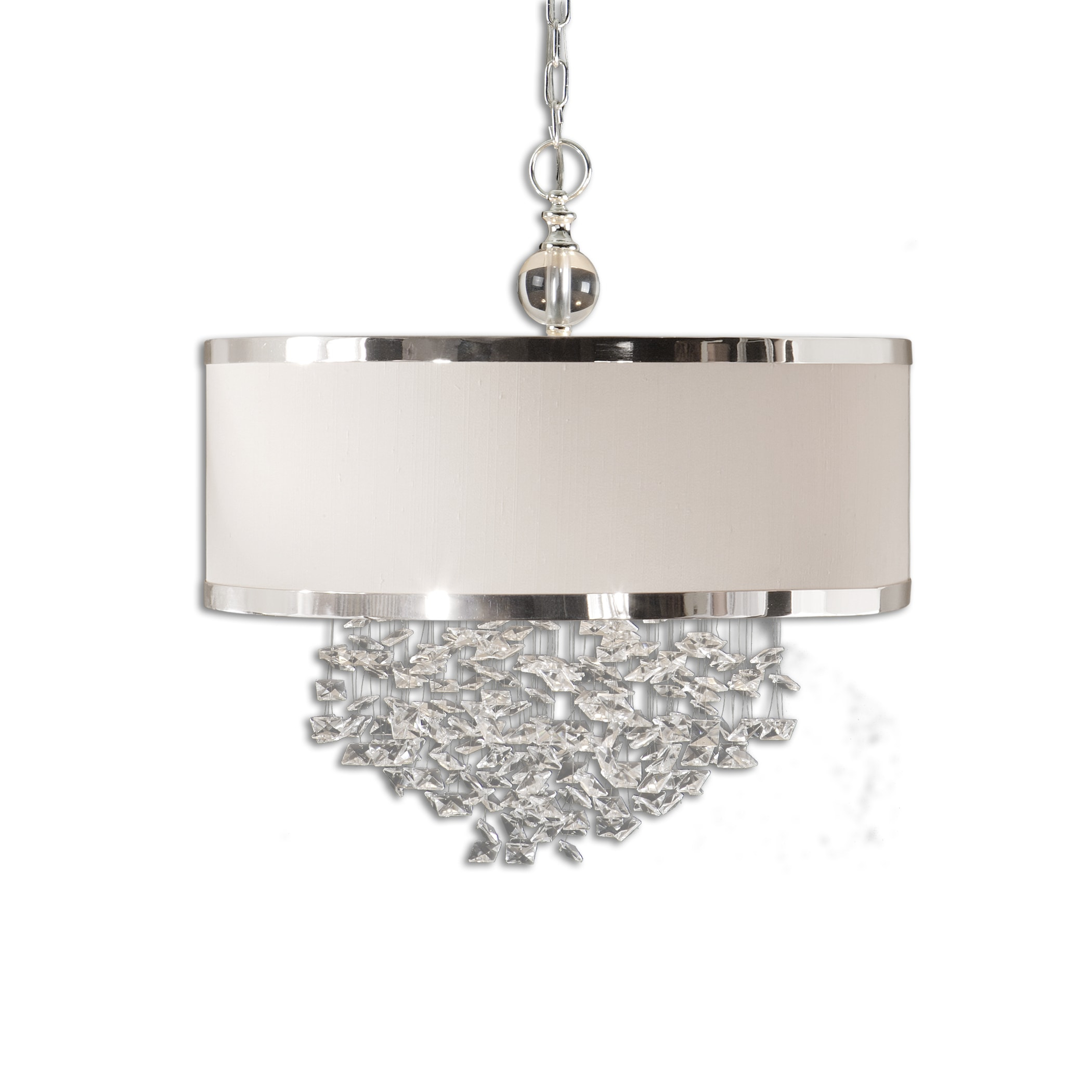 Fascination 3 Light Slken Drum Pendantuttermost - 22 W X 23 H pertaining to 3-Light Single Urn Pendants (Image 13 of 30)