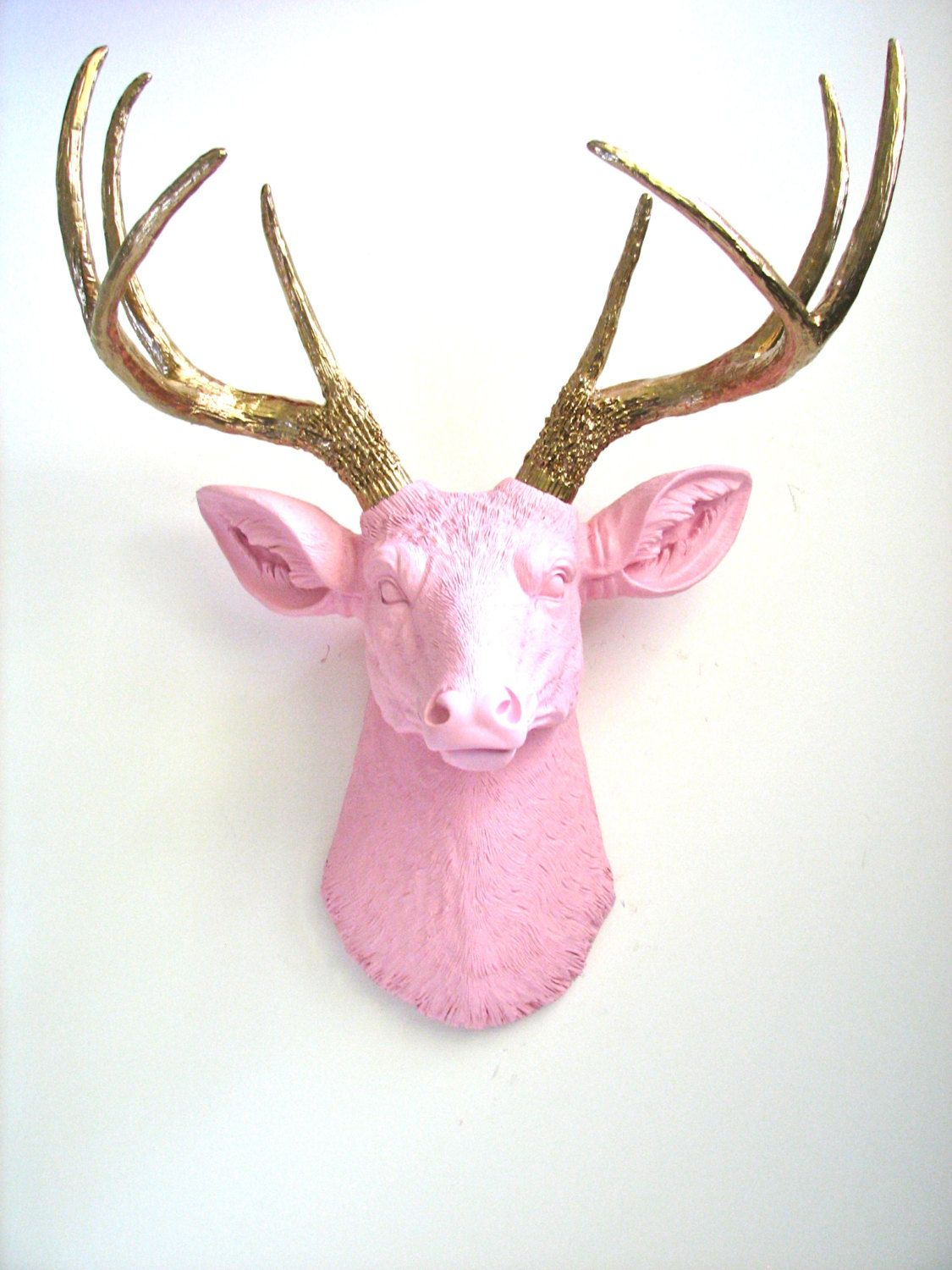Faux Taxidermy Deer Head Wall Hanging Wall Mount Home Decor with regard to Atlantis Faux Taxidermy Wall Decor (Image 10 of 30)