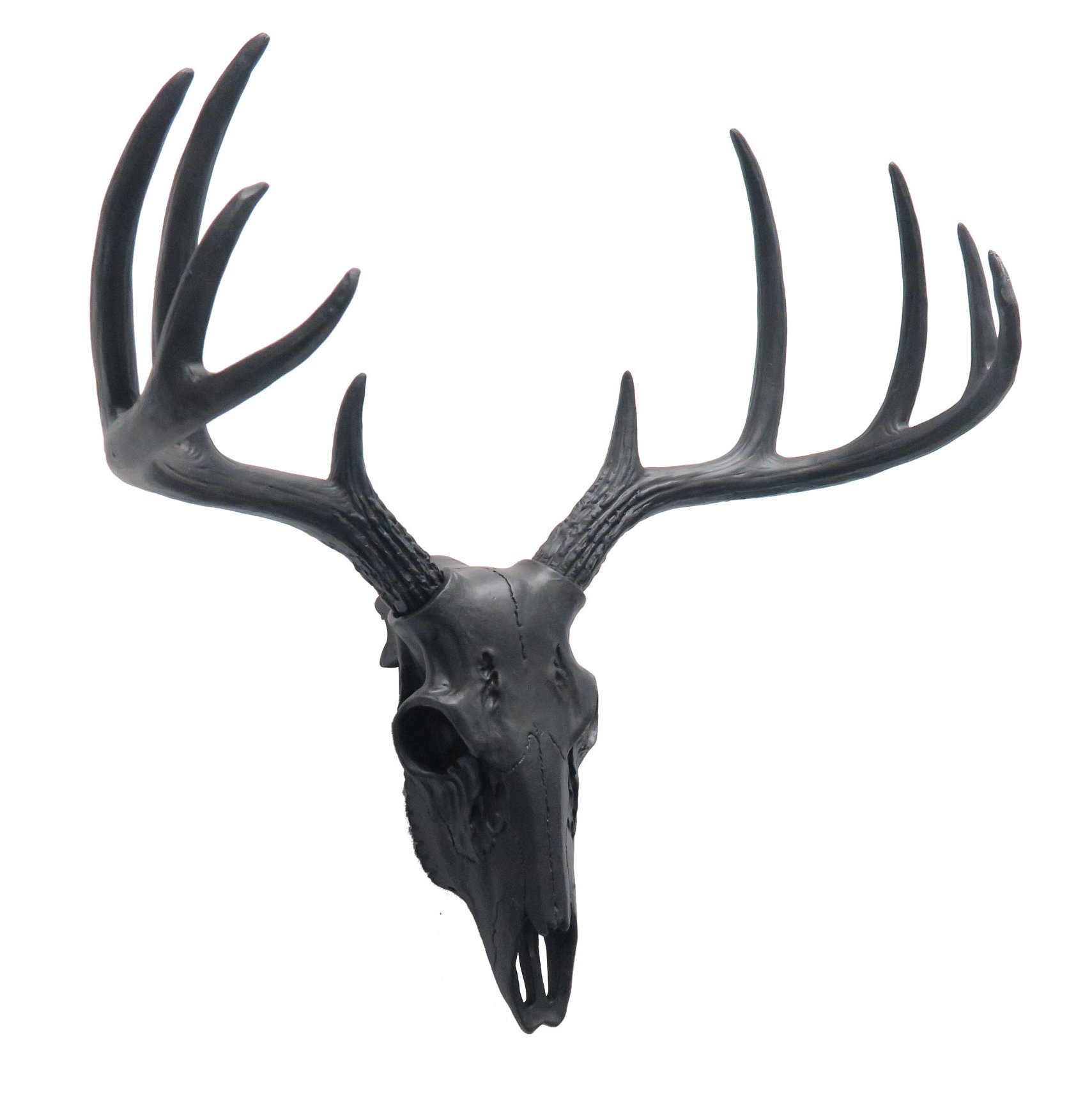 Faux Taxidermy Mini Deer Skull Wall Décor With Regard To Farm Metal Wall Rack And 3 Tin Pot With Hanger Wall Decor (View 14 of 30)
