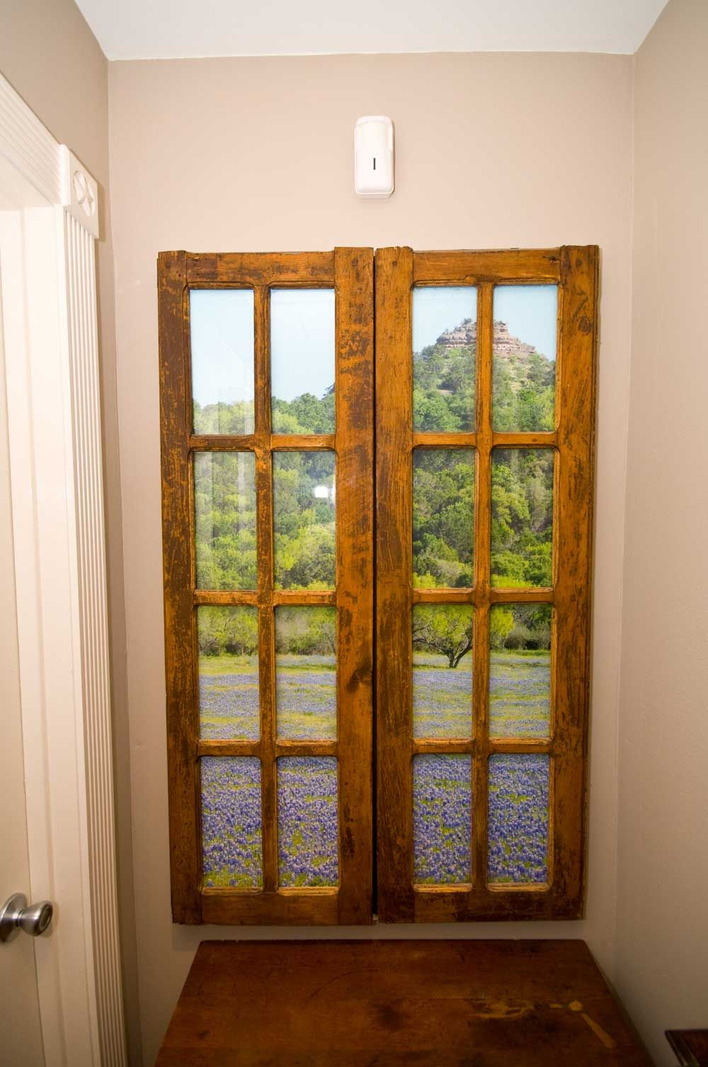 Faux Windows For Windowless Rooms | Faux Window Pictures In Faux Window Wood Wall Mirrors (View 12 of 30)