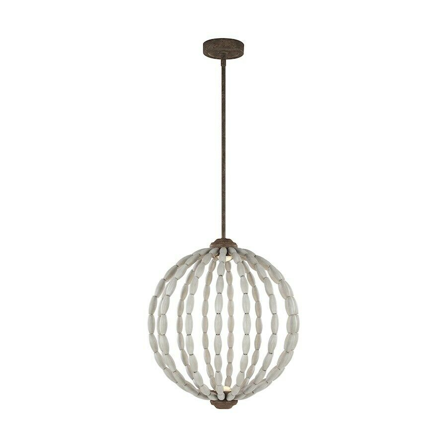 Feiss Orren 2 Light Pendant, Grey/weathered Iron, (View 18 of 30)