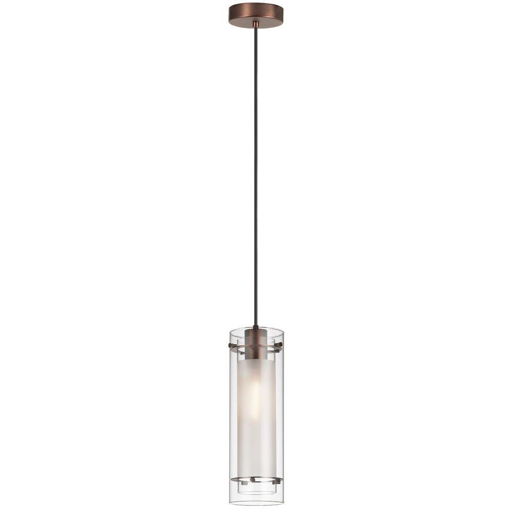 Fennia 1-Light Single Cylinder Pendant in Callington 1-Light Led Single Geometric Pendants (Image 20 of 30)