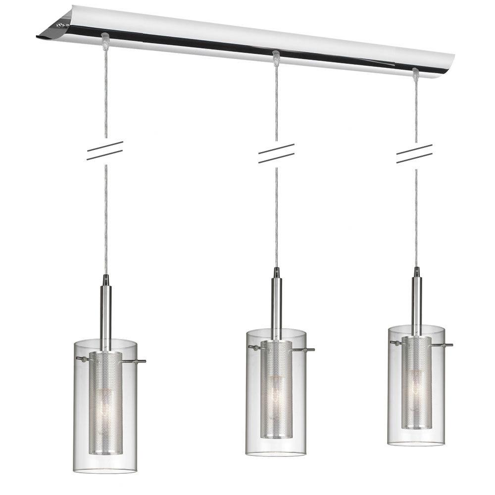 Fennia 3-Light Kitchen Island Linear Pendant for Fennia 1-Light Single Cylinder Pendants (Image 14 of 30)