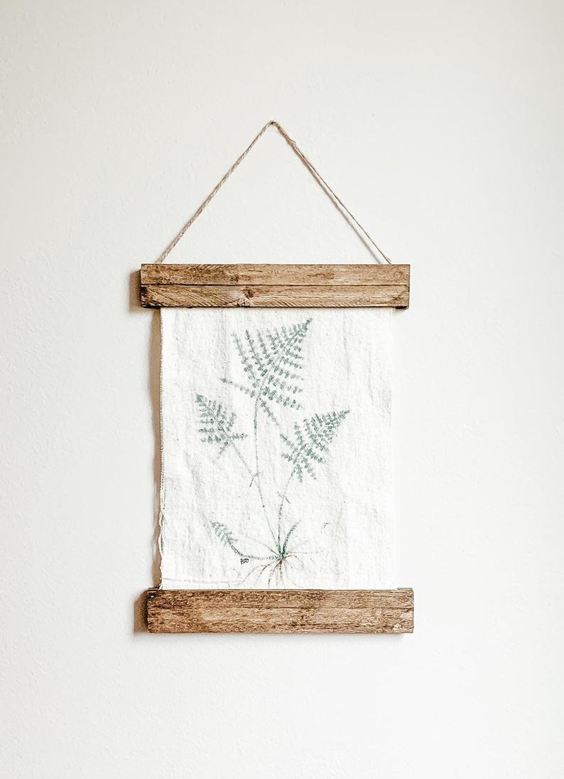 Fern Botanical, Wall Decor, Wall Scroll, Greenery, Painting, Canvas, Farmhouse Pertaining To Scroll Framed Wall Decor (View 7 of 30)