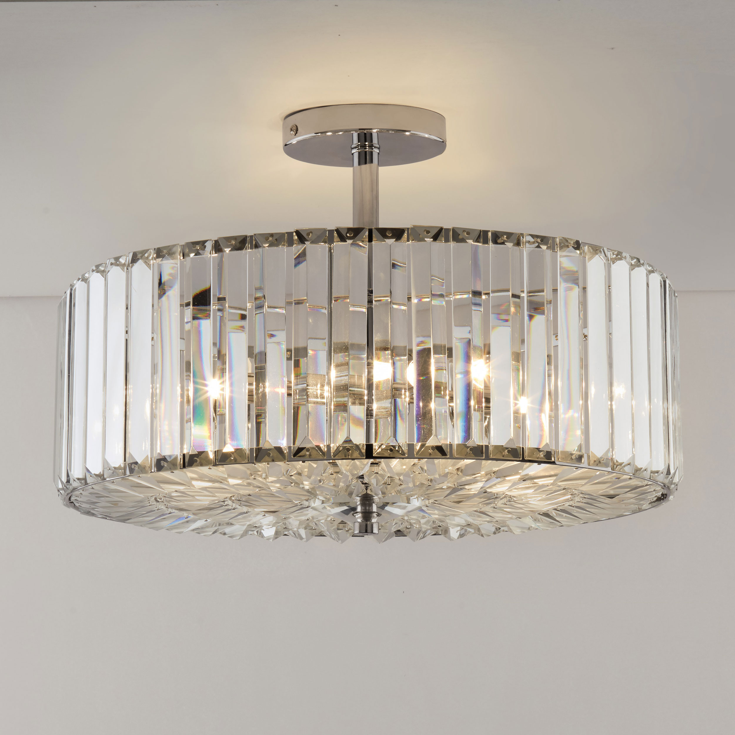 Fernhurst Crystal Pendant Light with Clea 3-Light Crystal Chandeliers (Image 17 of 30)