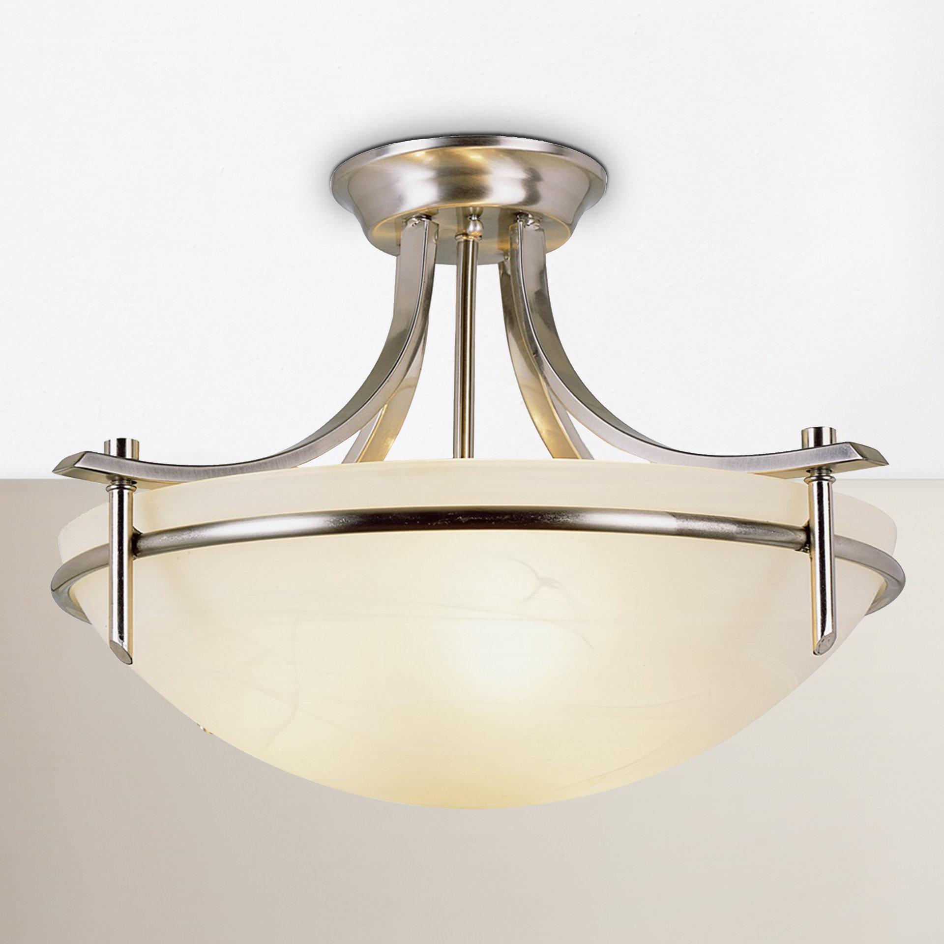 Ferrante 3 Light Semi Flush Mount Regarding Warner Robins 3 Light Lantern Pendants (View 4 of 30)