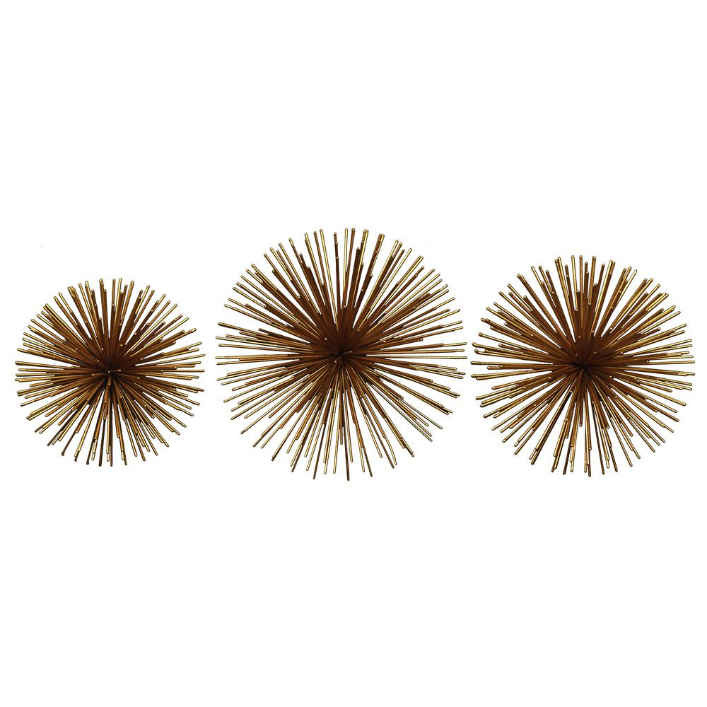 Fetco Rocchio Gold Starburst Metal Wall Art X2710E - The within 2 Piece Starburst Wall Decor Sets (Image 21 of 30)