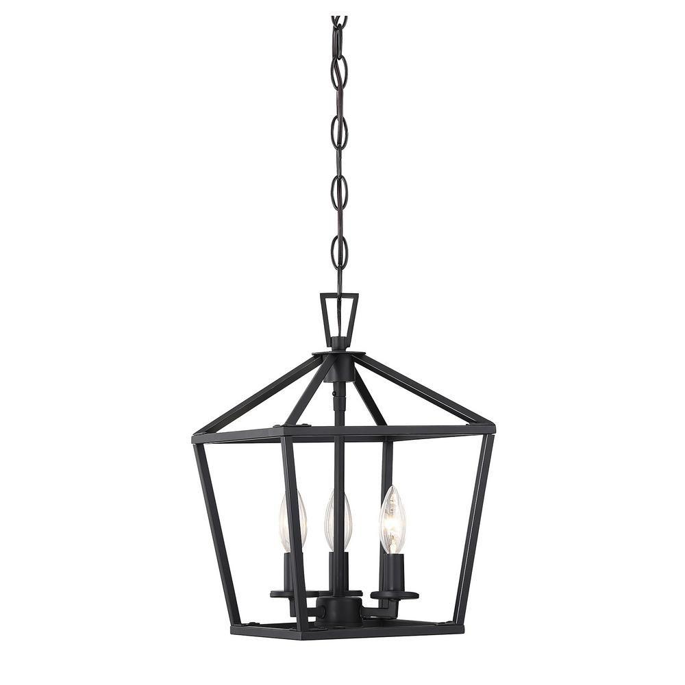 Filament Design 3 Light Matte Black Pendant In 2019 Pertaining To Gabriella 3 Light Lantern Chandeliers (View 5 of 30)