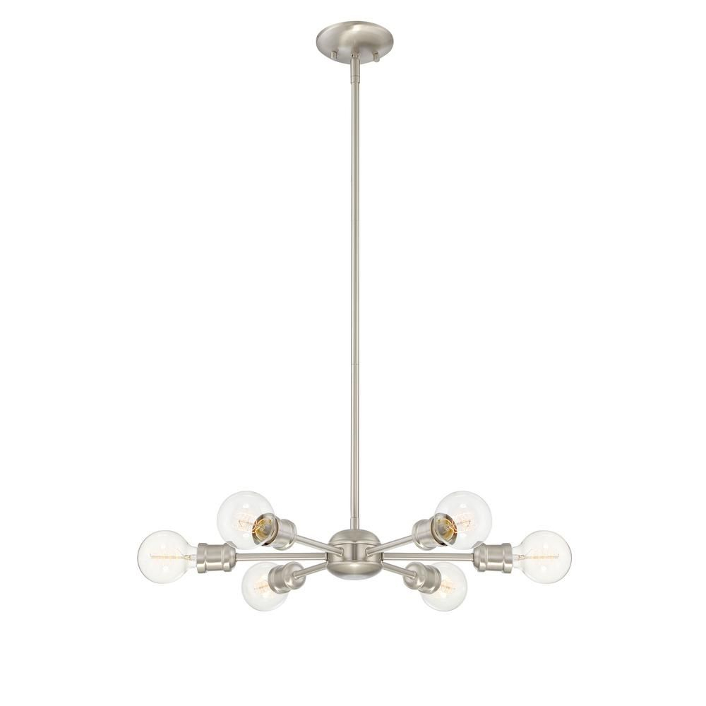 Filament Design 6 Light Brushed Nickel Chandelier Cli Regarding Eladia 6 Light Sputnik Chandeliers (View 15 of 30)