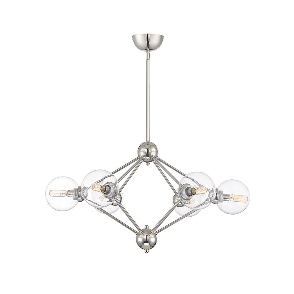 Filament Design 6 Light Polished Nickel Chandelier In 2019 With Regard To Eladia 6 Light Sputnik Chandeliers (View 16 of 30)