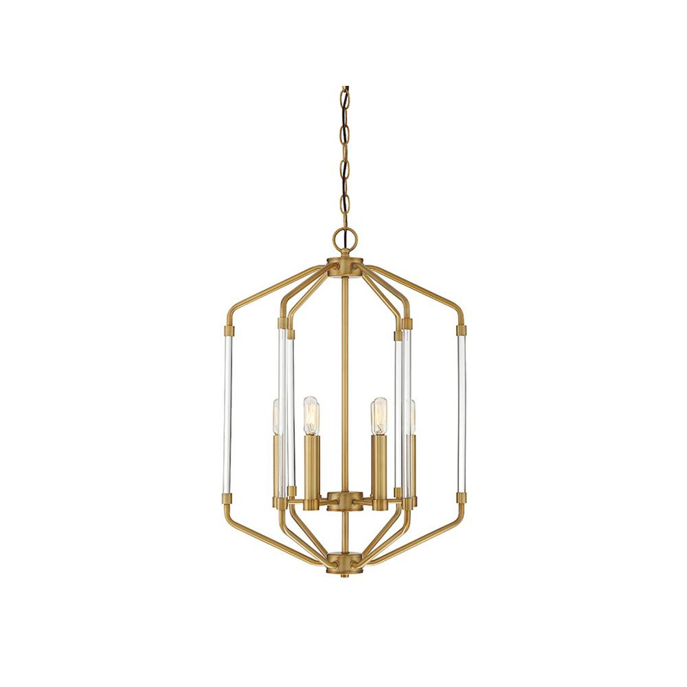 Filament Design 6-Light Warm Brass Pendant | Products In within Isoline 2-Light Lantern Geometric Pendants (Image 8 of 30)