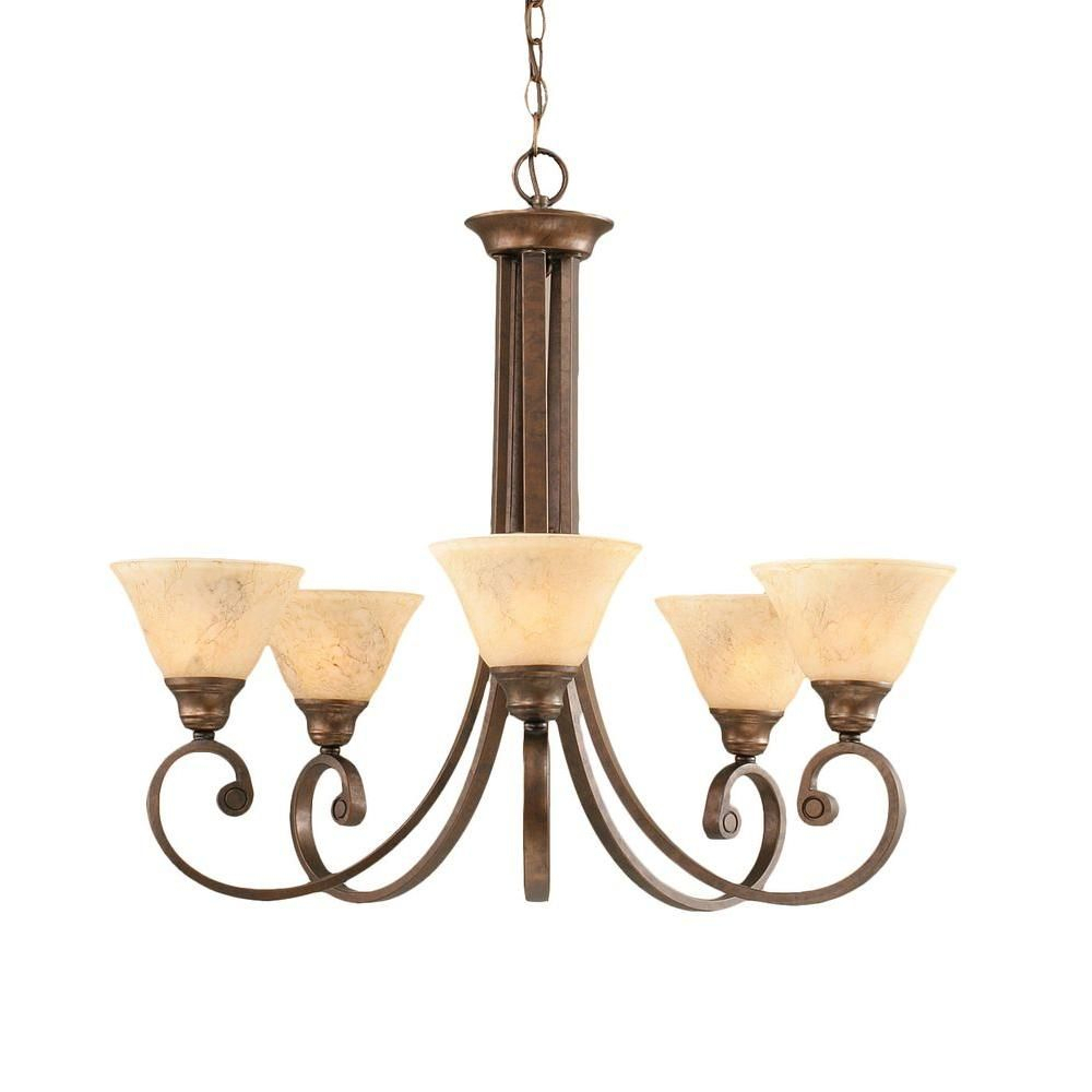 Filament Design Concord Series 5 Light Bronze Chandelier With Gaines 5 Light Shaded Chandeliers (View 15 of 30)