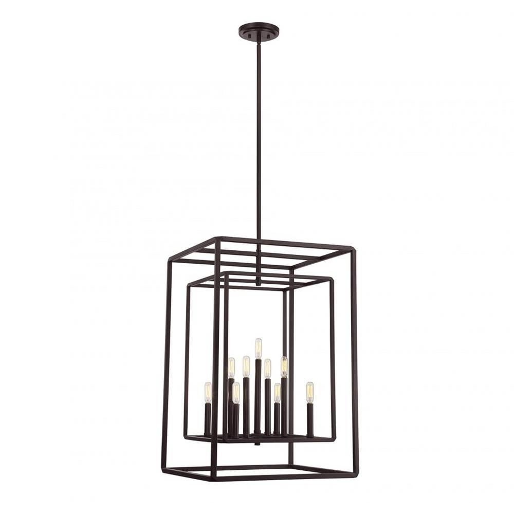 Filament Design Kane 9-Light English Bronze Pendant-Cli with regard to Sherri-Ann 3-Light Lantern Square / Rectangle Pendants (Image 11 of 30)