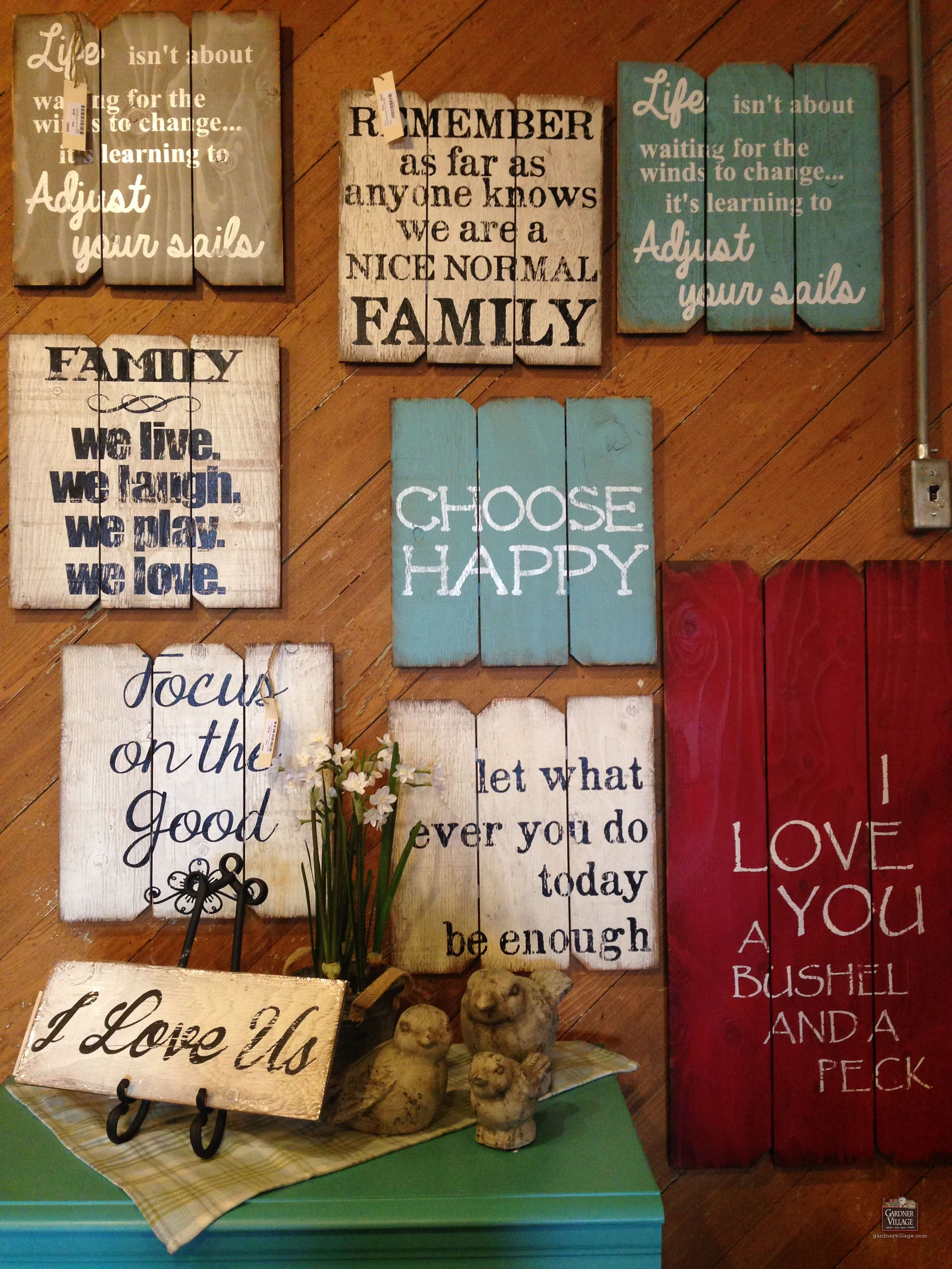 Find Your Favorite Sayings At Country Furniture & Gifts At throughout Let Whatever You Do Today Be Enough Wood Wall Decor (Image 9 of 30)