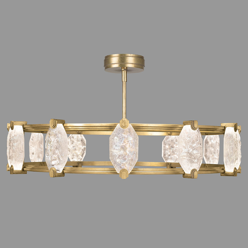 Fine Art Lamps 2st Allison Paladino Modern Gold Leaf Led Intended For Paladino 6 Light Chandeliers (View 21 of 30)