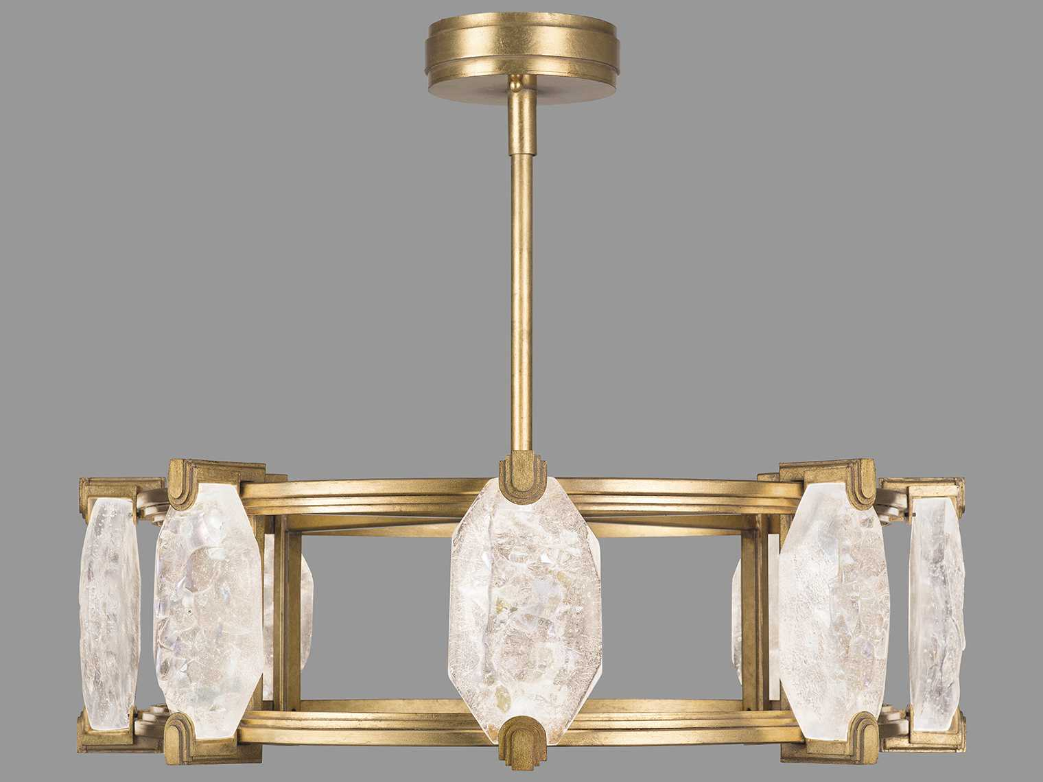 Fine Art Lamps Allison Paladino Gold Leaf 16 Lights 30'' Wide Led Pendant Light With Paladino 6 Light Chandeliers (View 14 of 30)