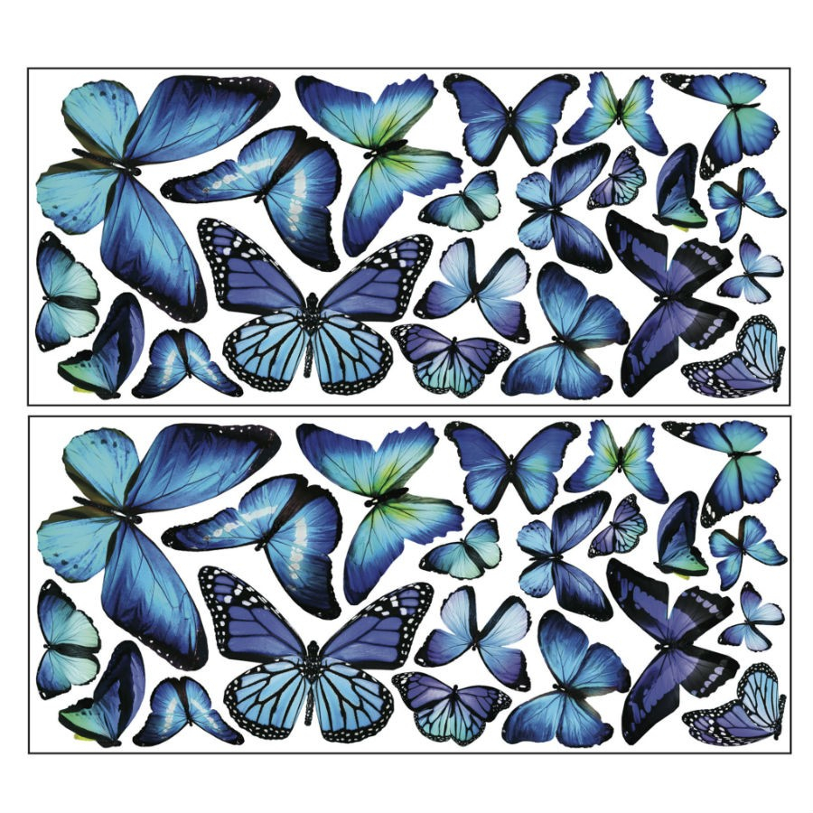 Fine Décor 'Mariposa Butterfly' Wall Art Kit regarding Mariposa 9 Piece Wall Decor (Image 10 of 30)