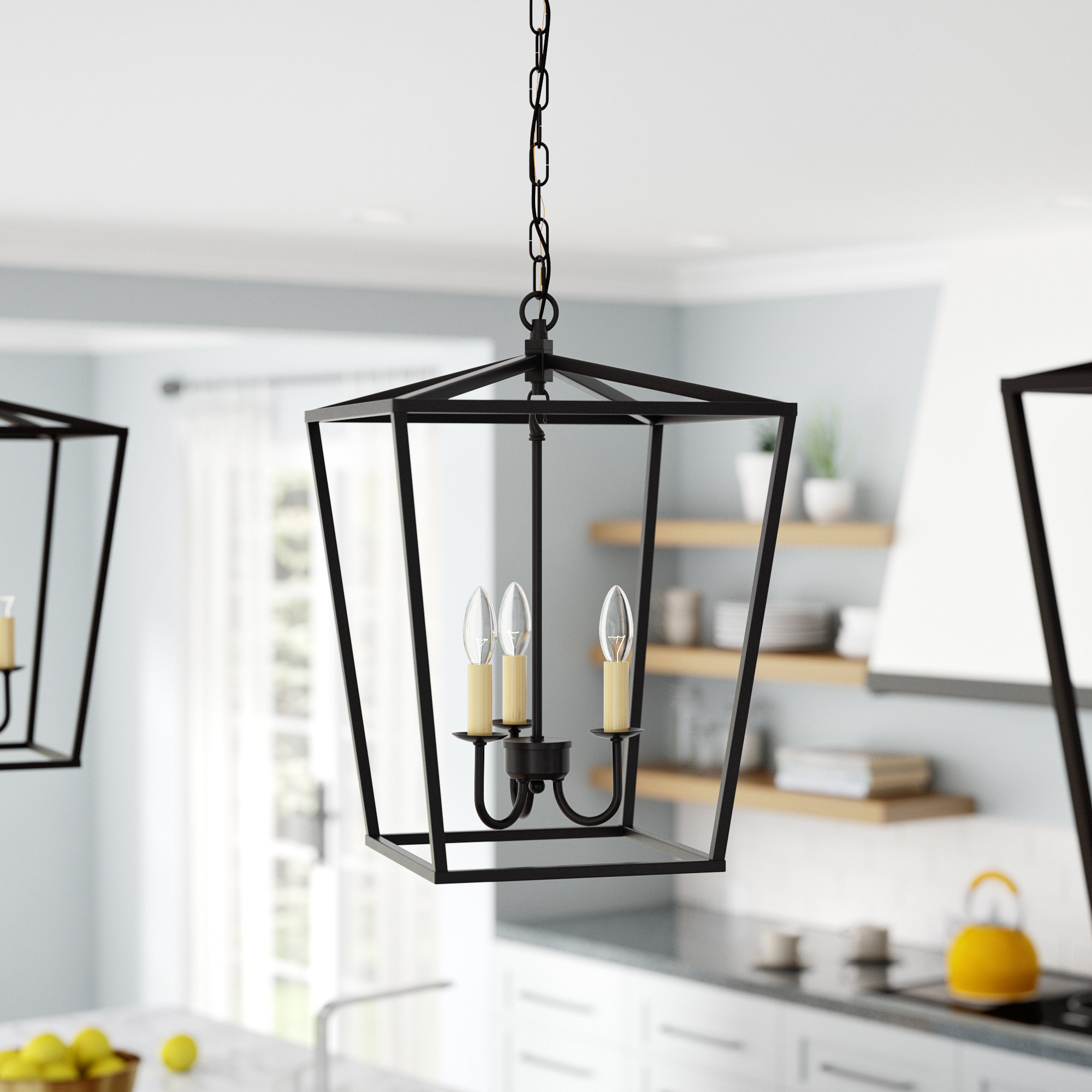 Finnick 3 Light Lantern Pendant Intended For Destrey 3 Light Lantern Square/rectangle Pendants (View 15 of 30)
