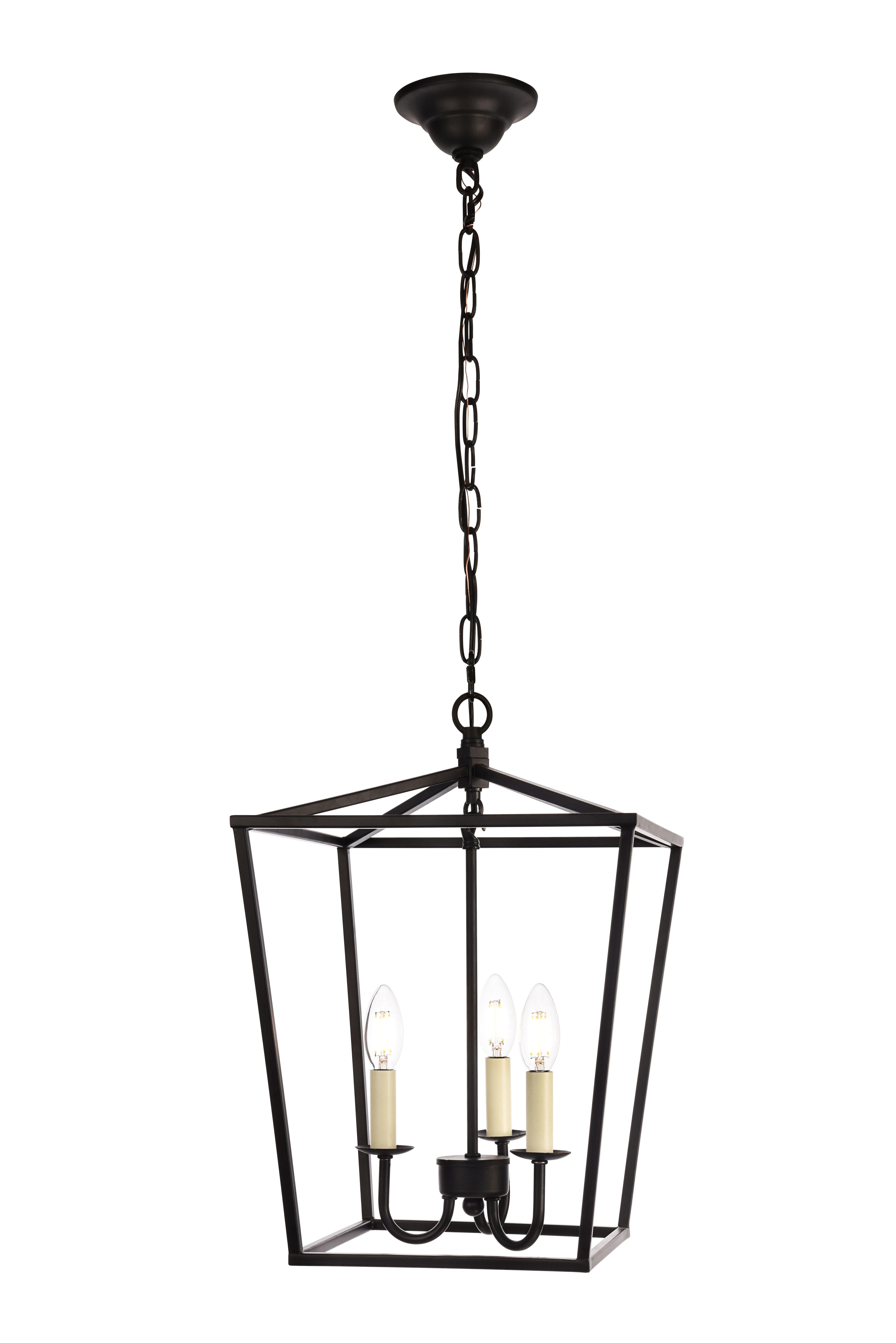 Finnick 3 Light Lantern Pendant Regarding Destrey 3 Light Lantern Square/rectangle Pendants (View 13 of 30)