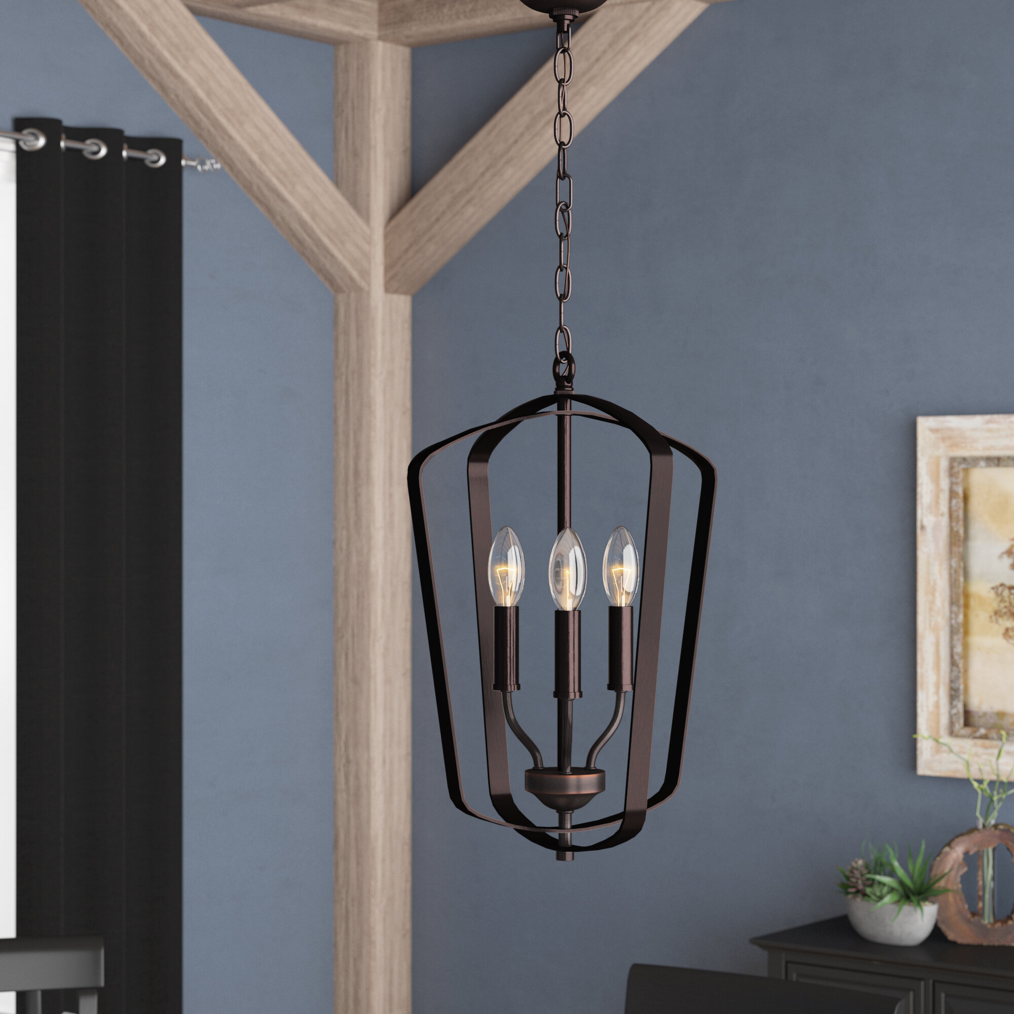 Firman 3-Light Single Geometric Pendant within Chauvin 3-Light Lantern Geometric Pendants (Image 13 of 30)