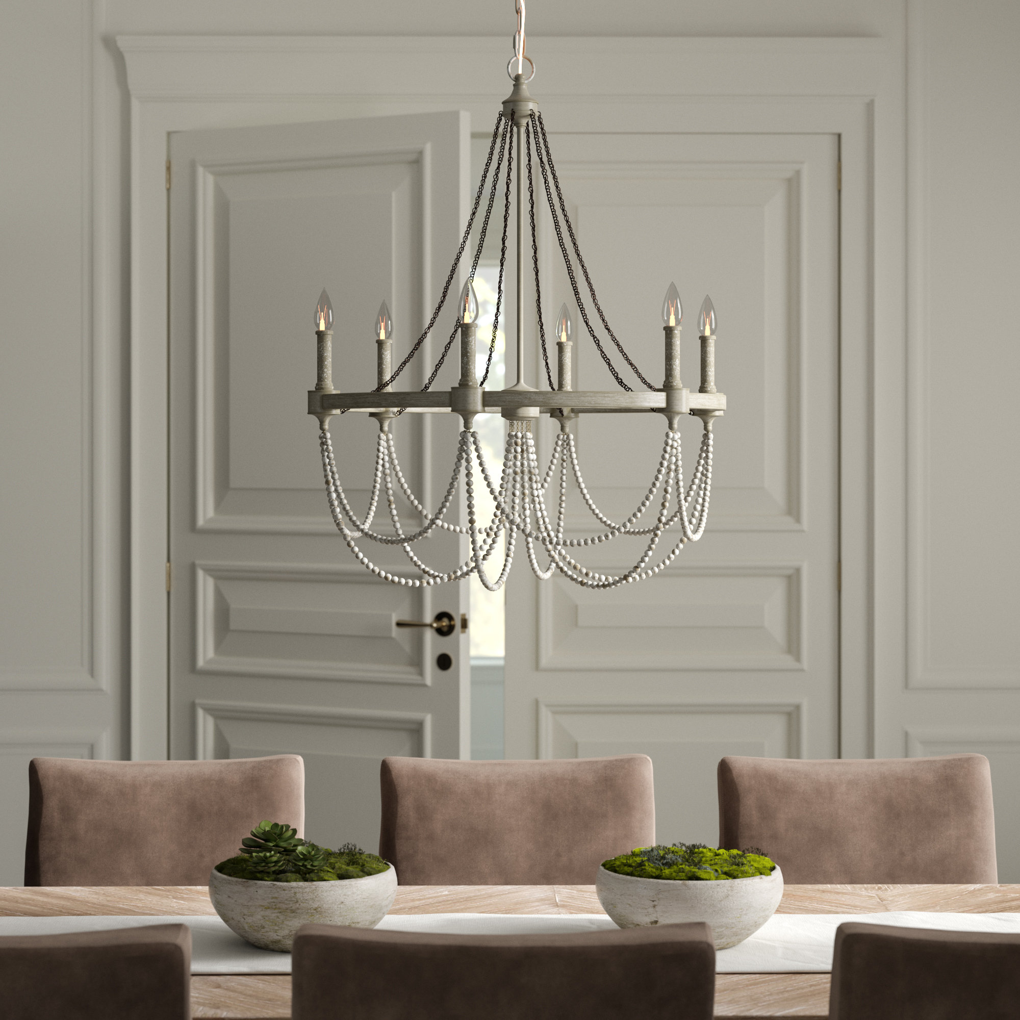 Fitzgibbon 6-Light Candle Style Chandelier with Watford 6-Light Candle Style Chandeliers (Image 10 of 30)