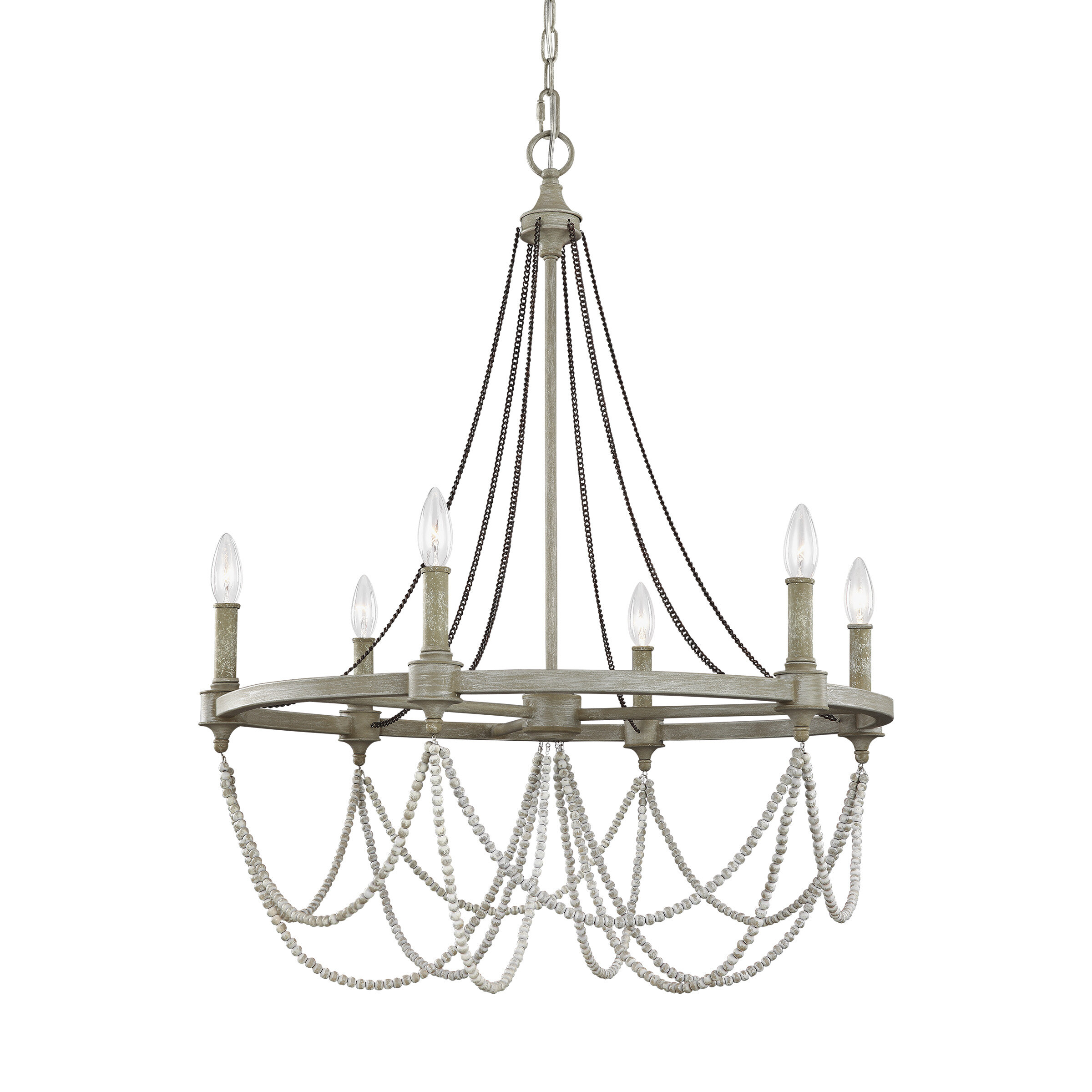 Fitzgibbon 6-Light Candle Style Chandelier within Watford 9-Light Candle Style Chandeliers (Image 15 of 30)