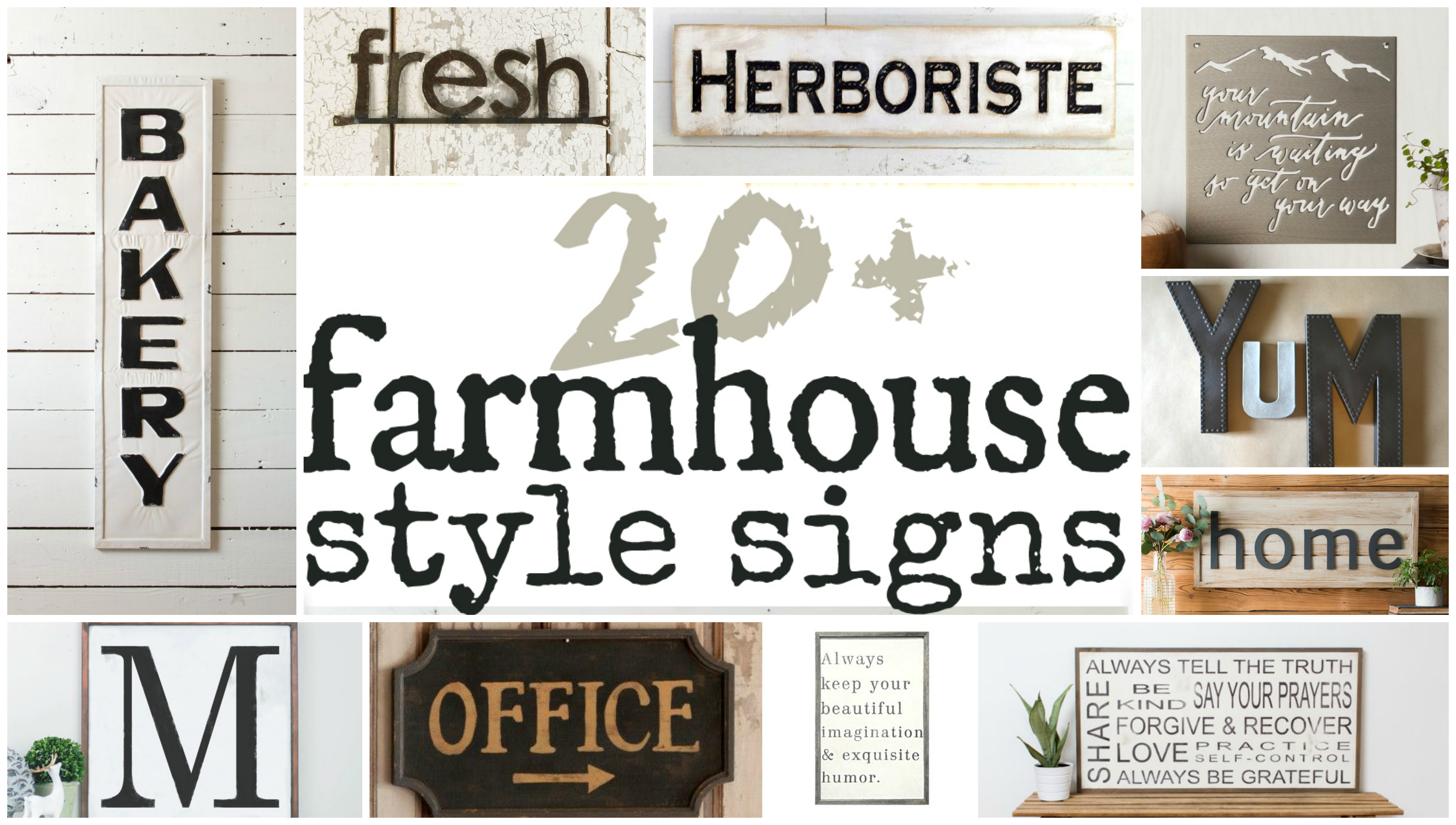 Fixer Upper Inspired Farmhouse Signs You Can Buy Online Intended For Personalized Distressed Vintage Look Kitchen Metal Sign Wall Decor (View 18 of 30)
